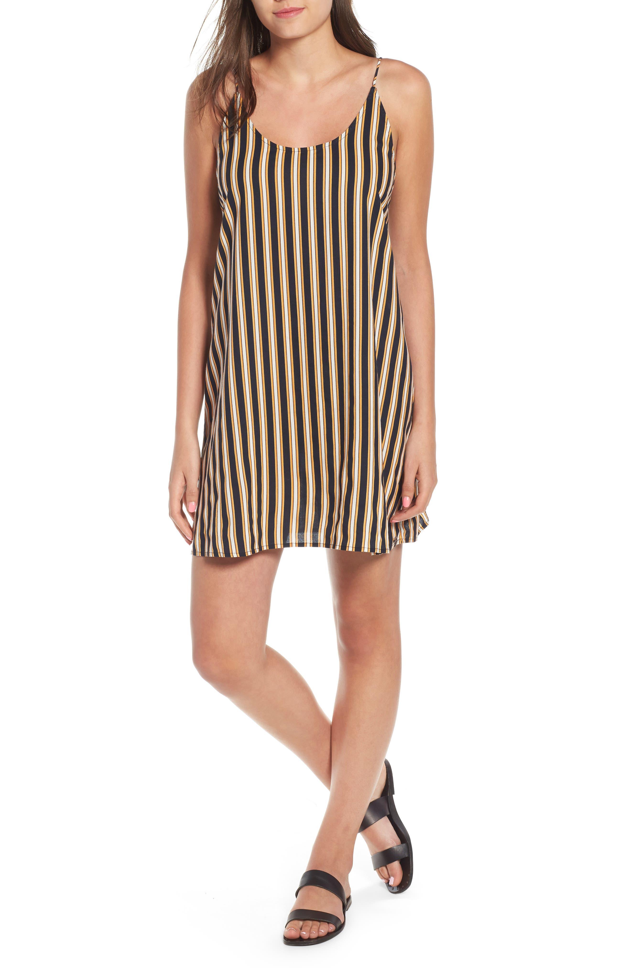 Stoney Stripe Slipdress,                             Main thumbnail 1, color,