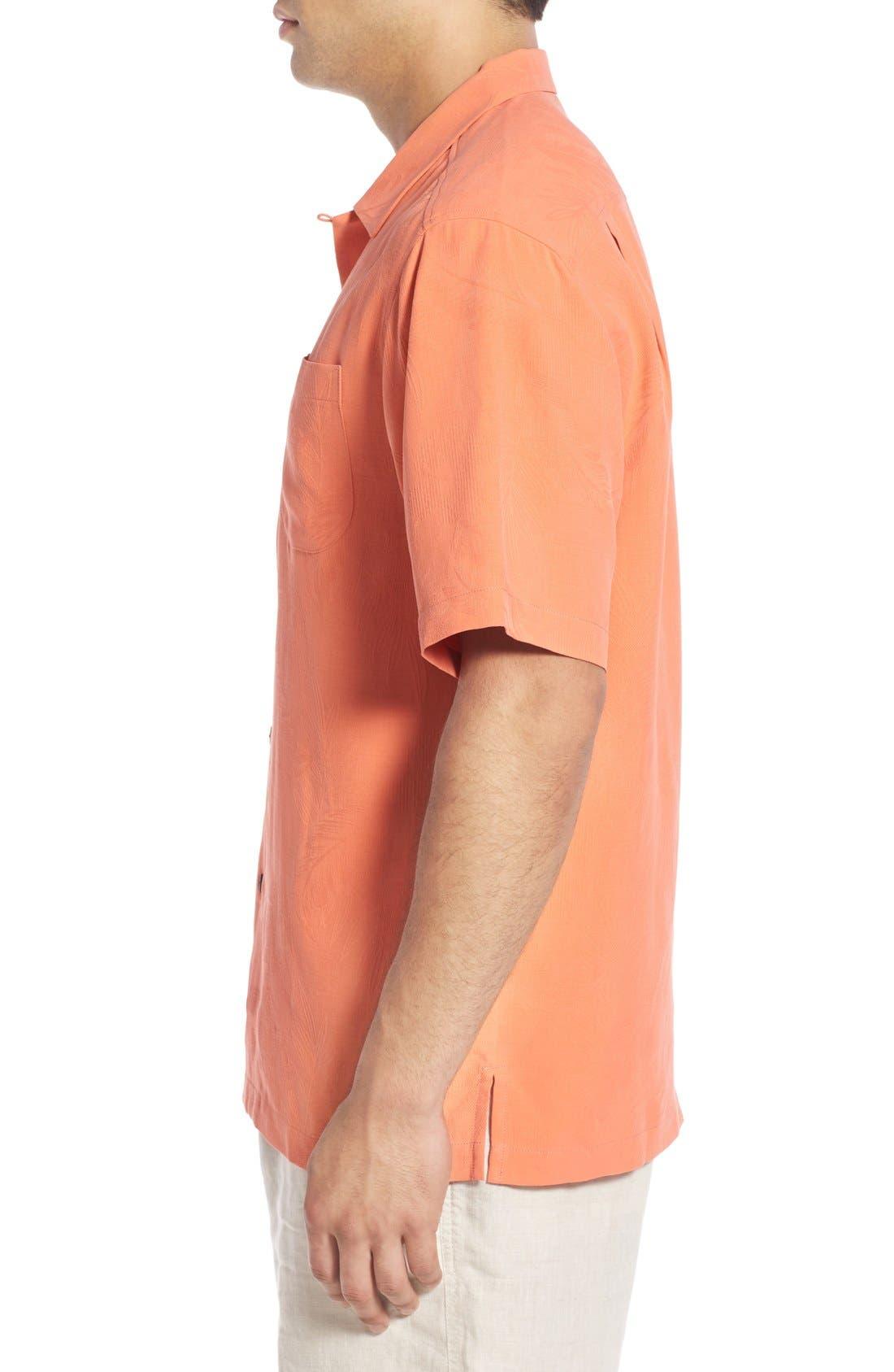 Rio Fronds Short Sleeve Silk Sport Shirt,                             Alternate thumbnail 48, color,