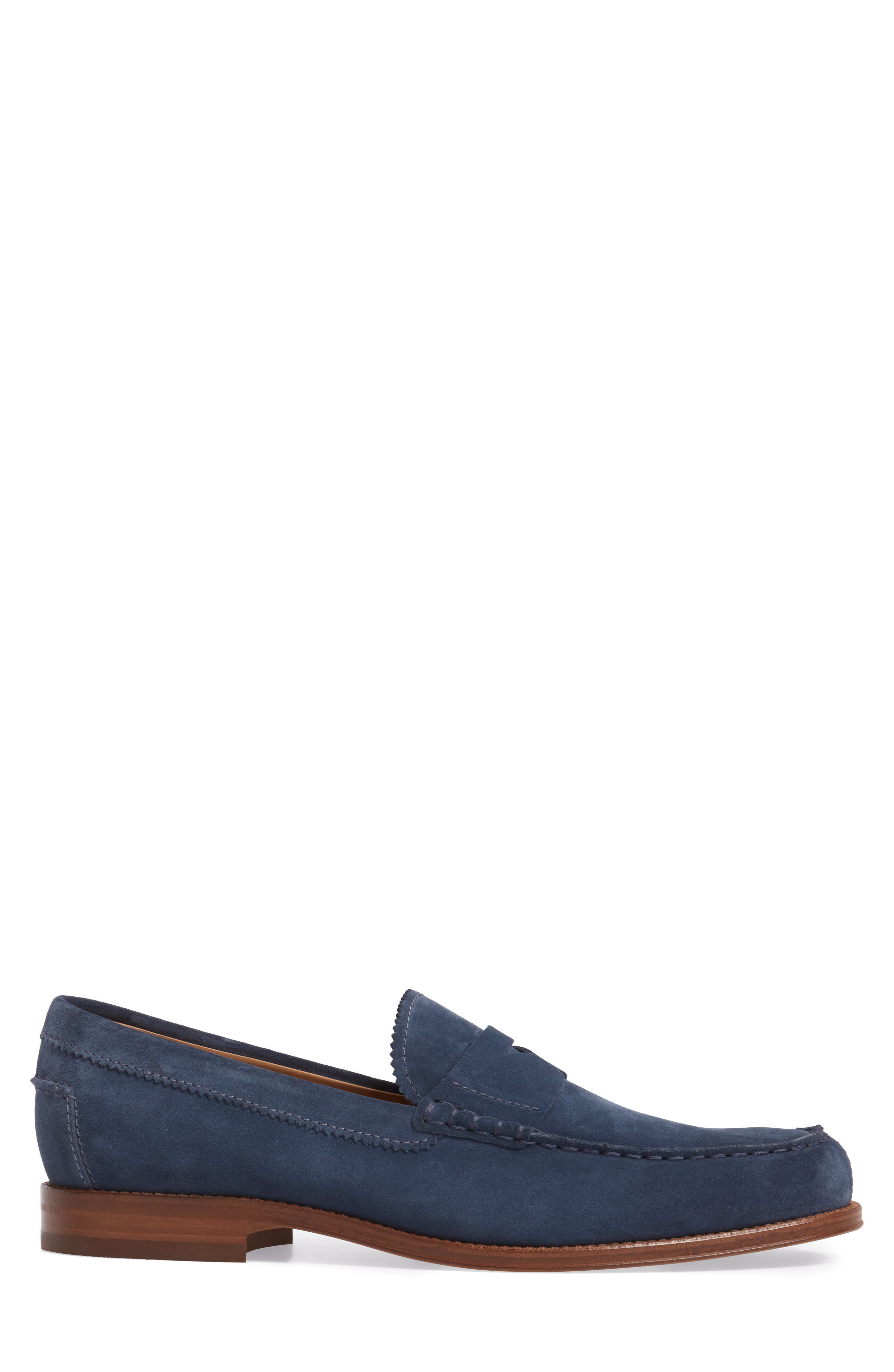 Suede Penny Loafer,                             Alternate thumbnail 6, color,