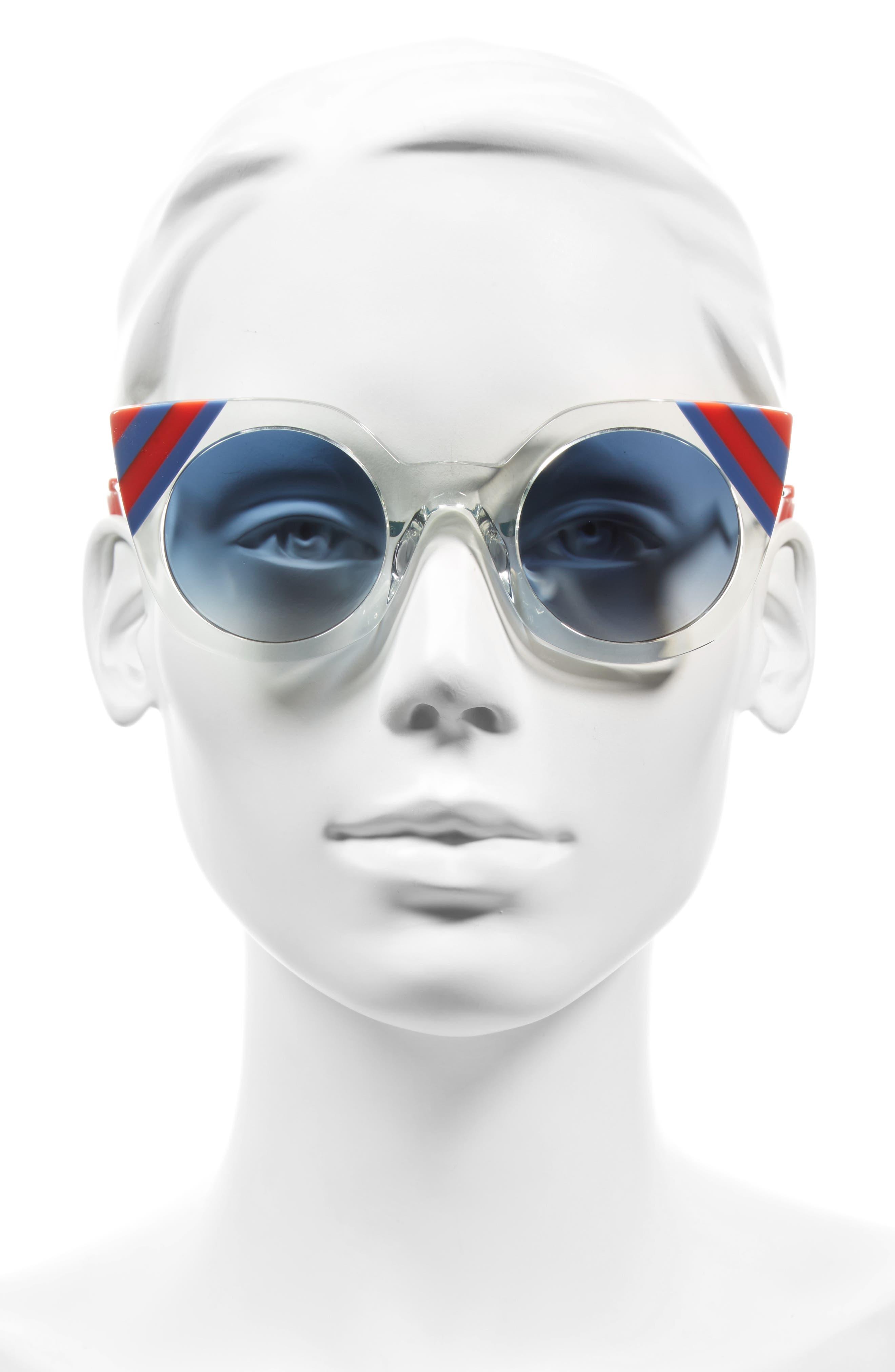 47mm Cat Eye Sunglasses,                             Alternate thumbnail 5, color,