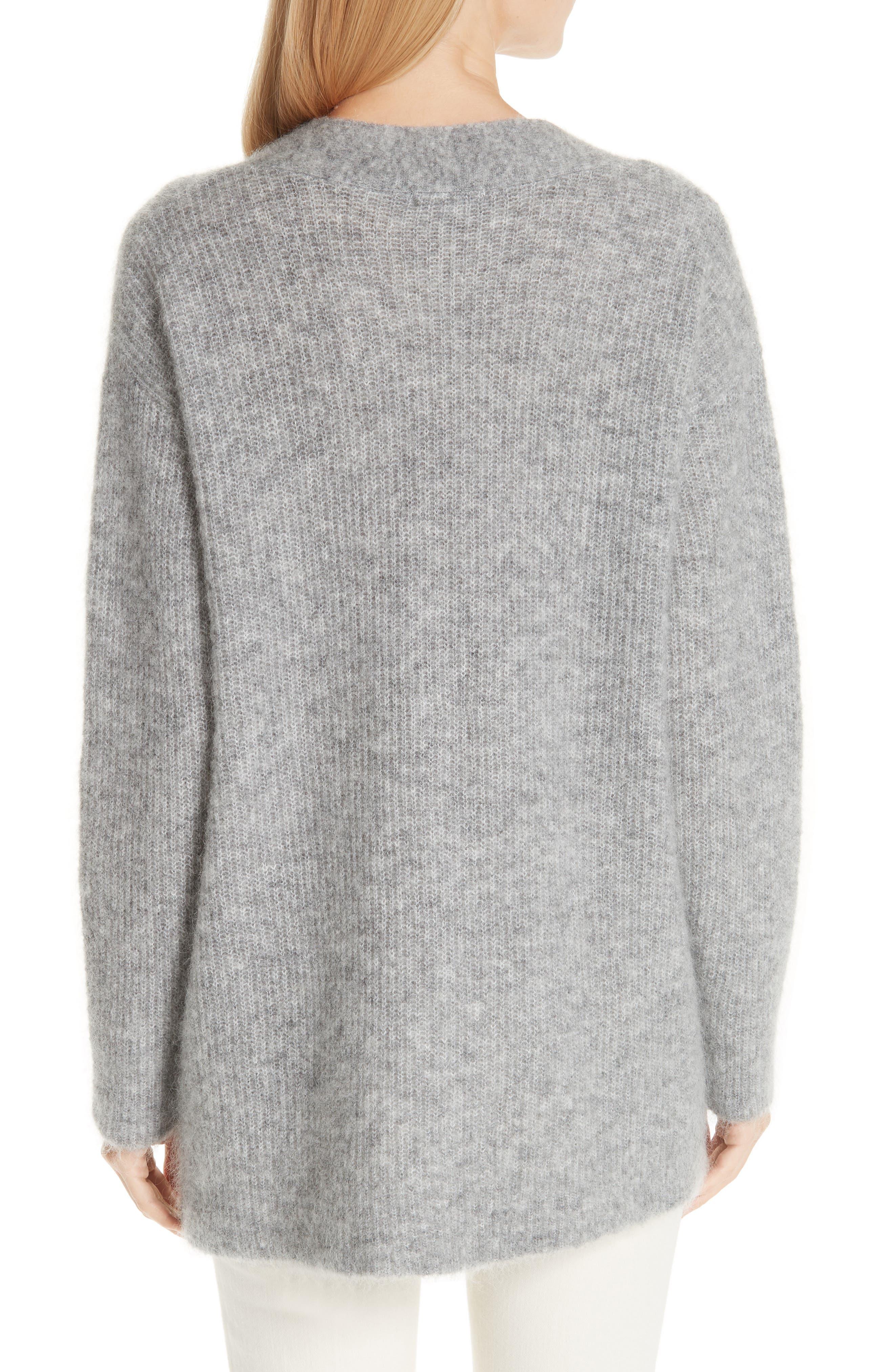 Soft Mohair Blend Knit Sweater,                             Alternate thumbnail 2, color,                             PALOMA MELANGE 921