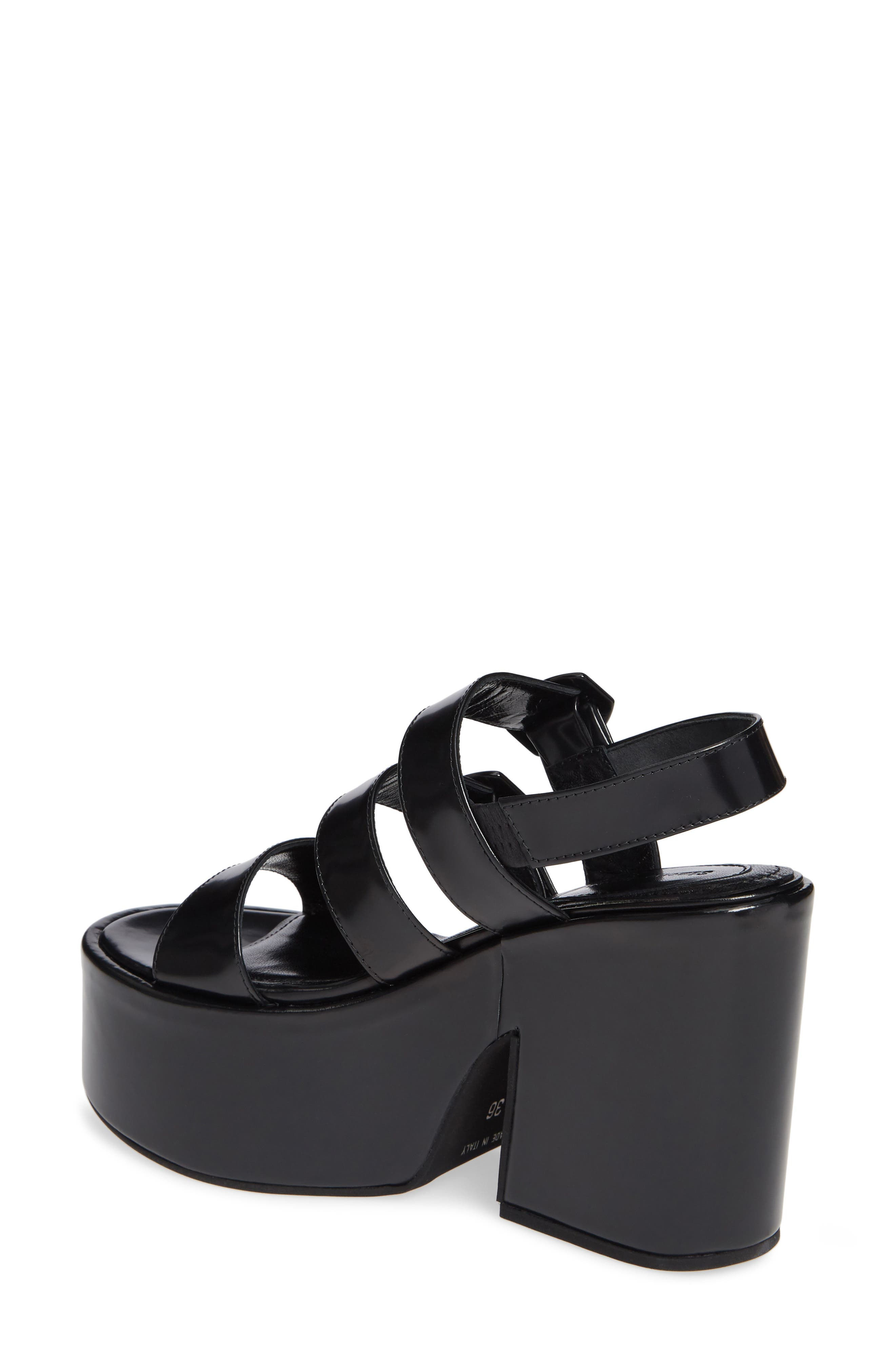 SIMONE ROCHA,                             Strappy Platform Sandal,                             Alternate thumbnail 2, color,                             001