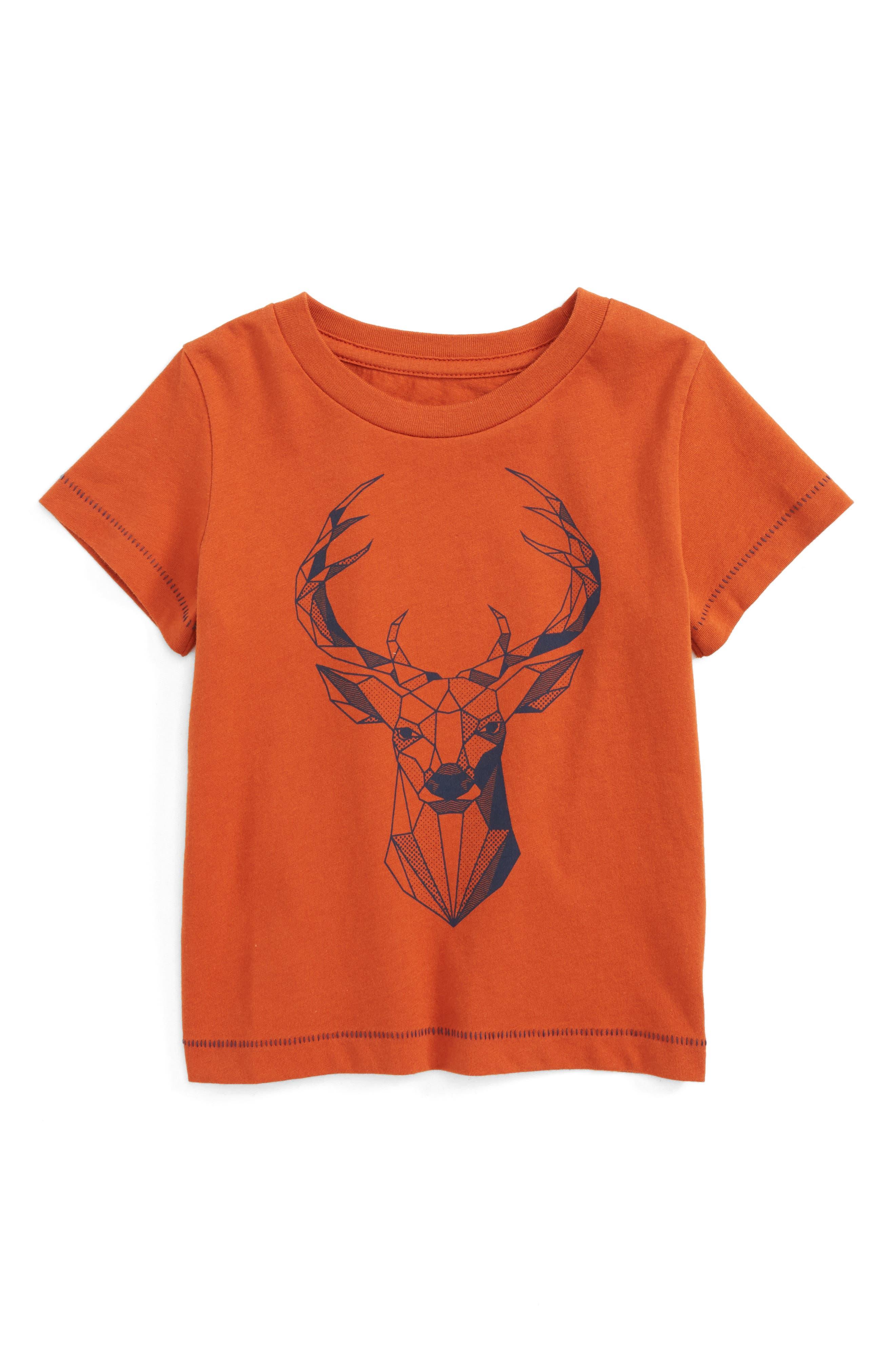 Geo Deer Graphic T-Shirt,                             Main thumbnail 1, color,
