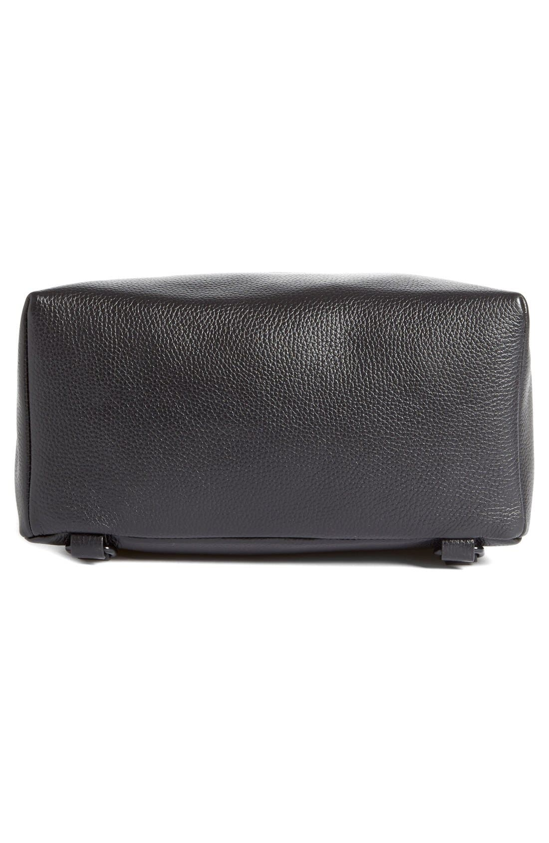 Leather Backpack,                             Alternate thumbnail 10, color,                             BLACK
