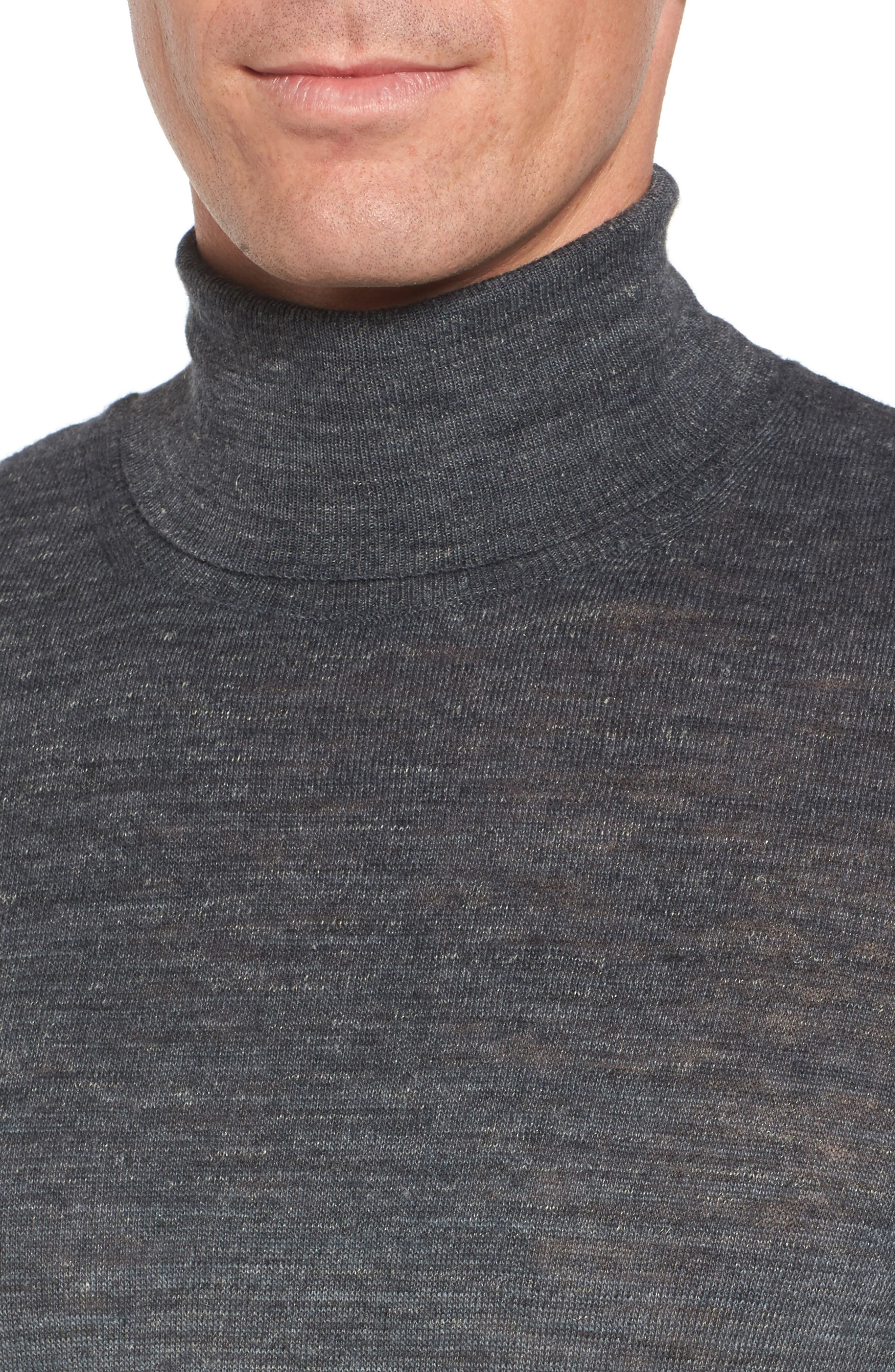 Regular Fit Dip Dye Turtleneck,                             Alternate thumbnail 4, color,                             020