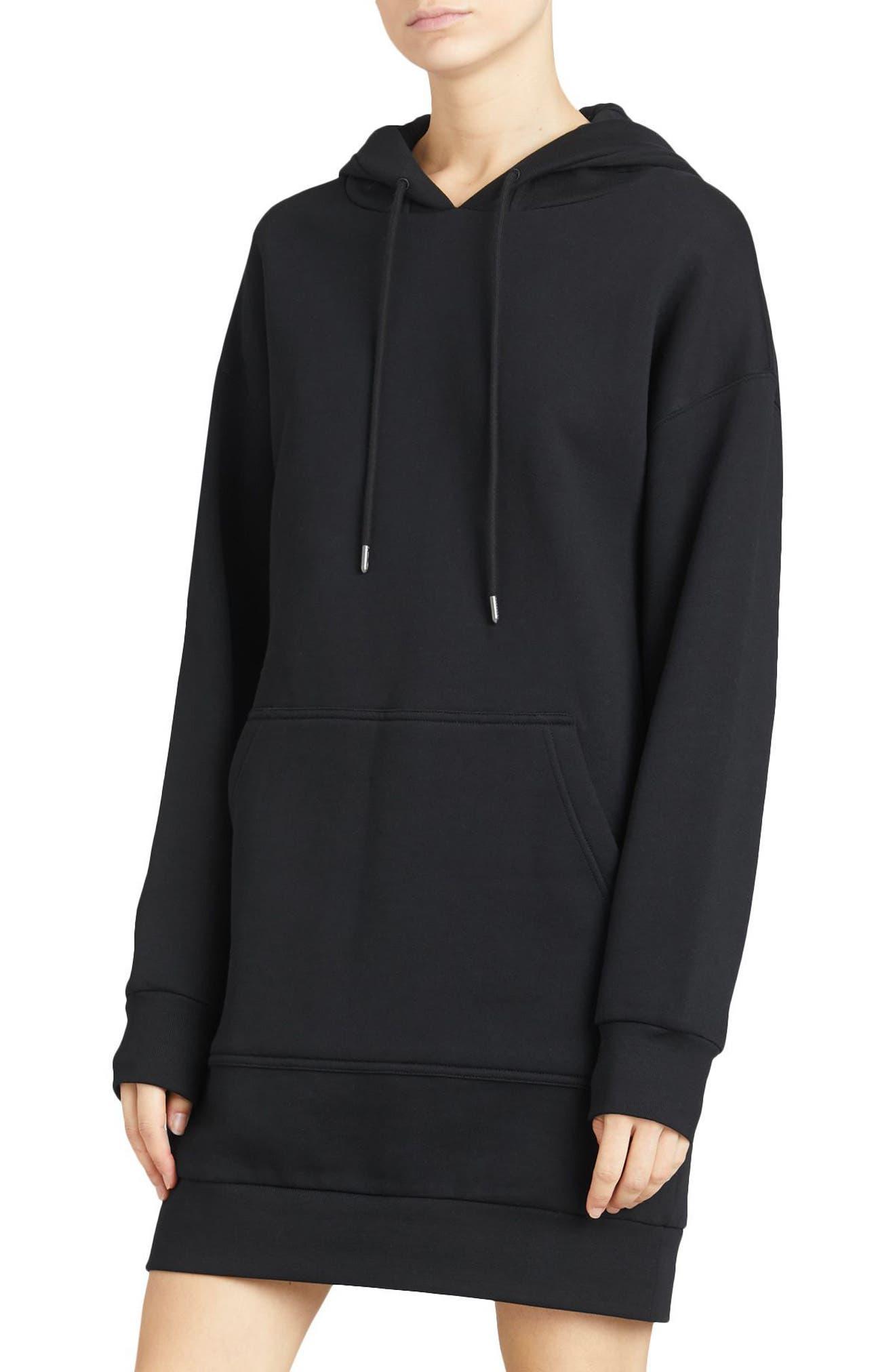 Cardeiver Jersey Sweatshirt Dress,                             Alternate thumbnail 3, color,                             001