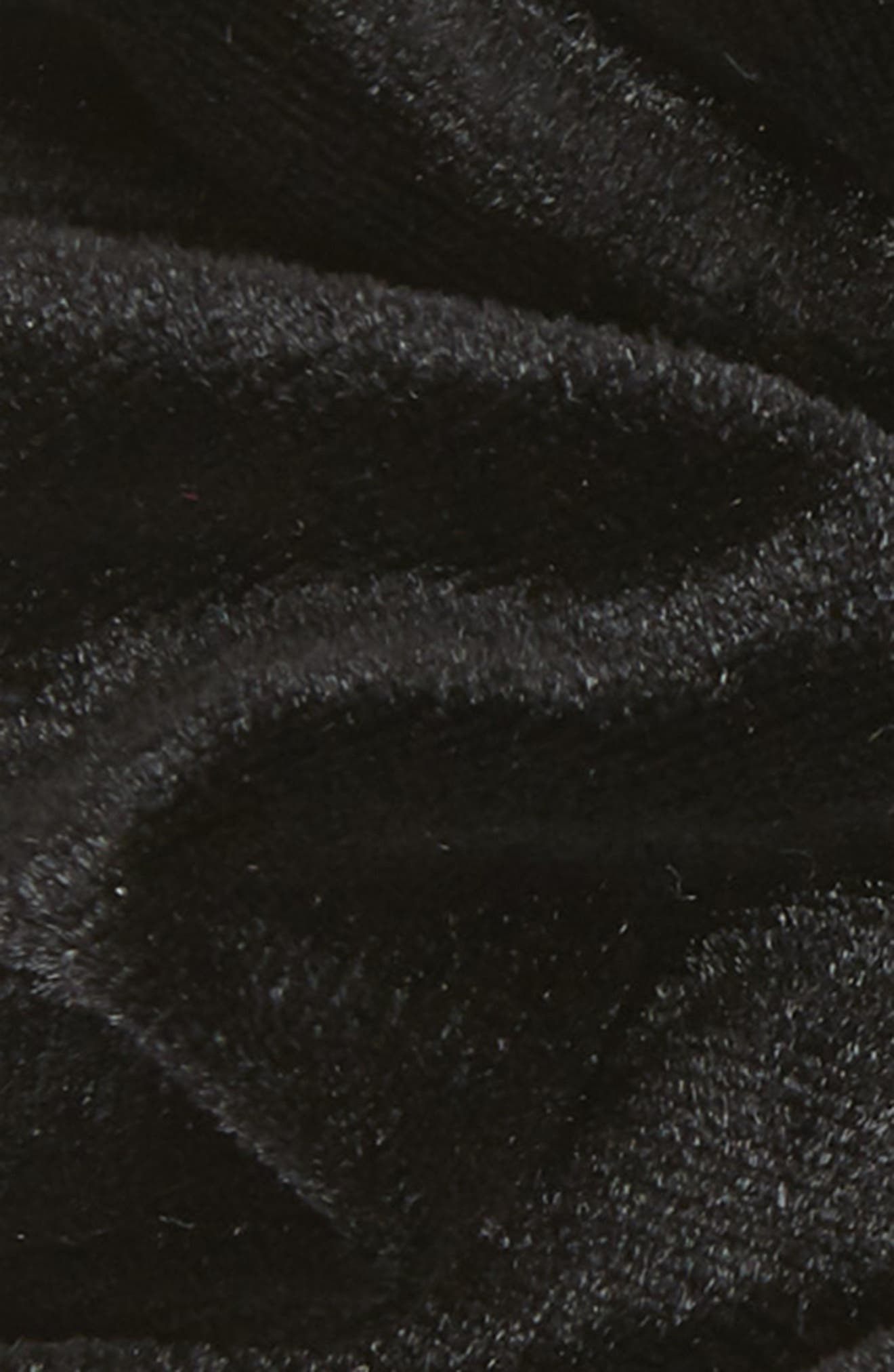 Velour Scrunchie,                             Alternate thumbnail 2, color,                             BLACK
