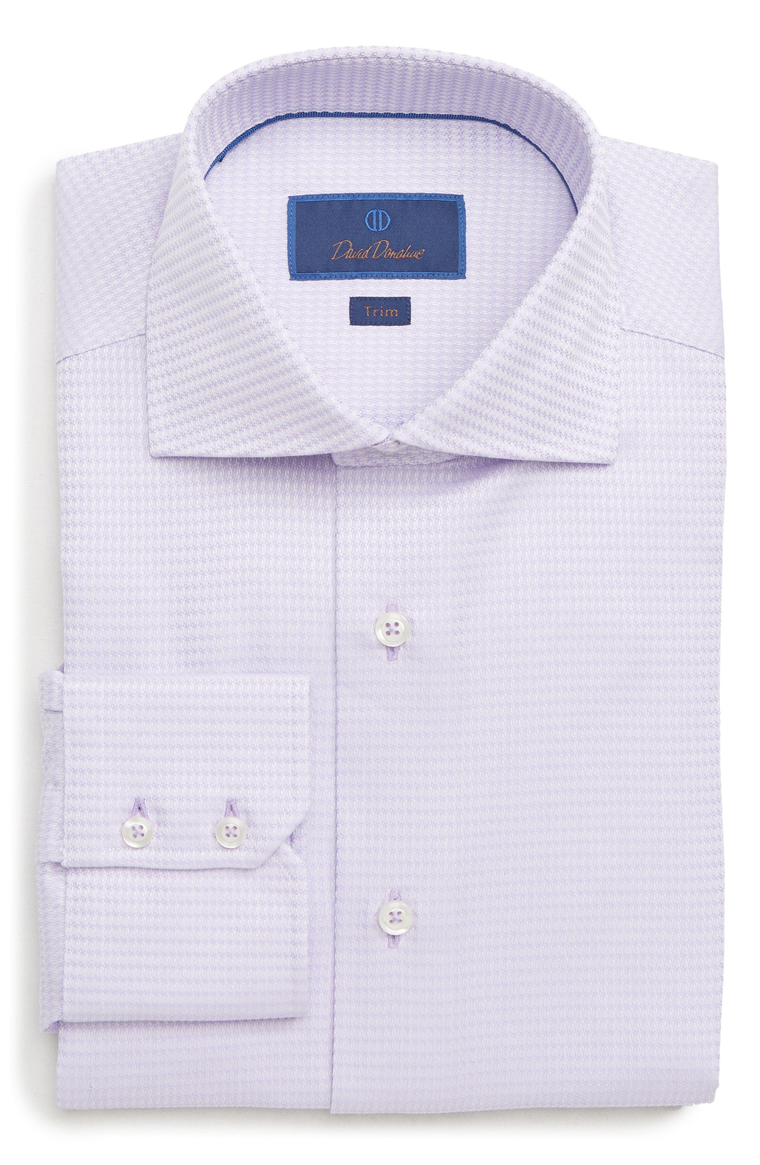 Trim Fit Solid Dress Shirt,                         Main,                         color, LILAC
