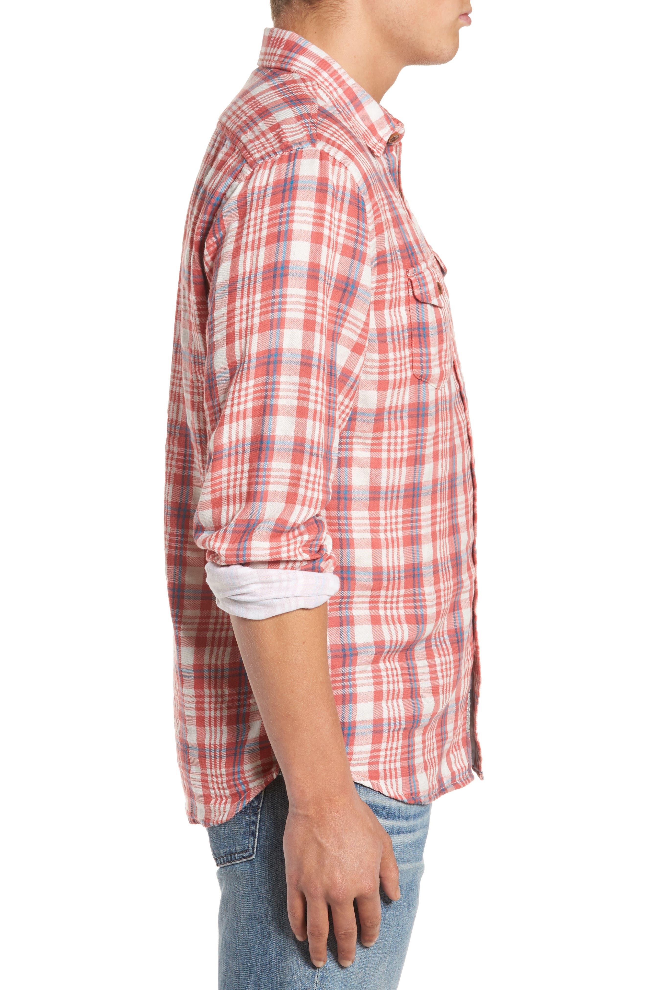 Barnard Slim Fit Plaid Sport Shirt,                             Alternate thumbnail 3, color,                             647