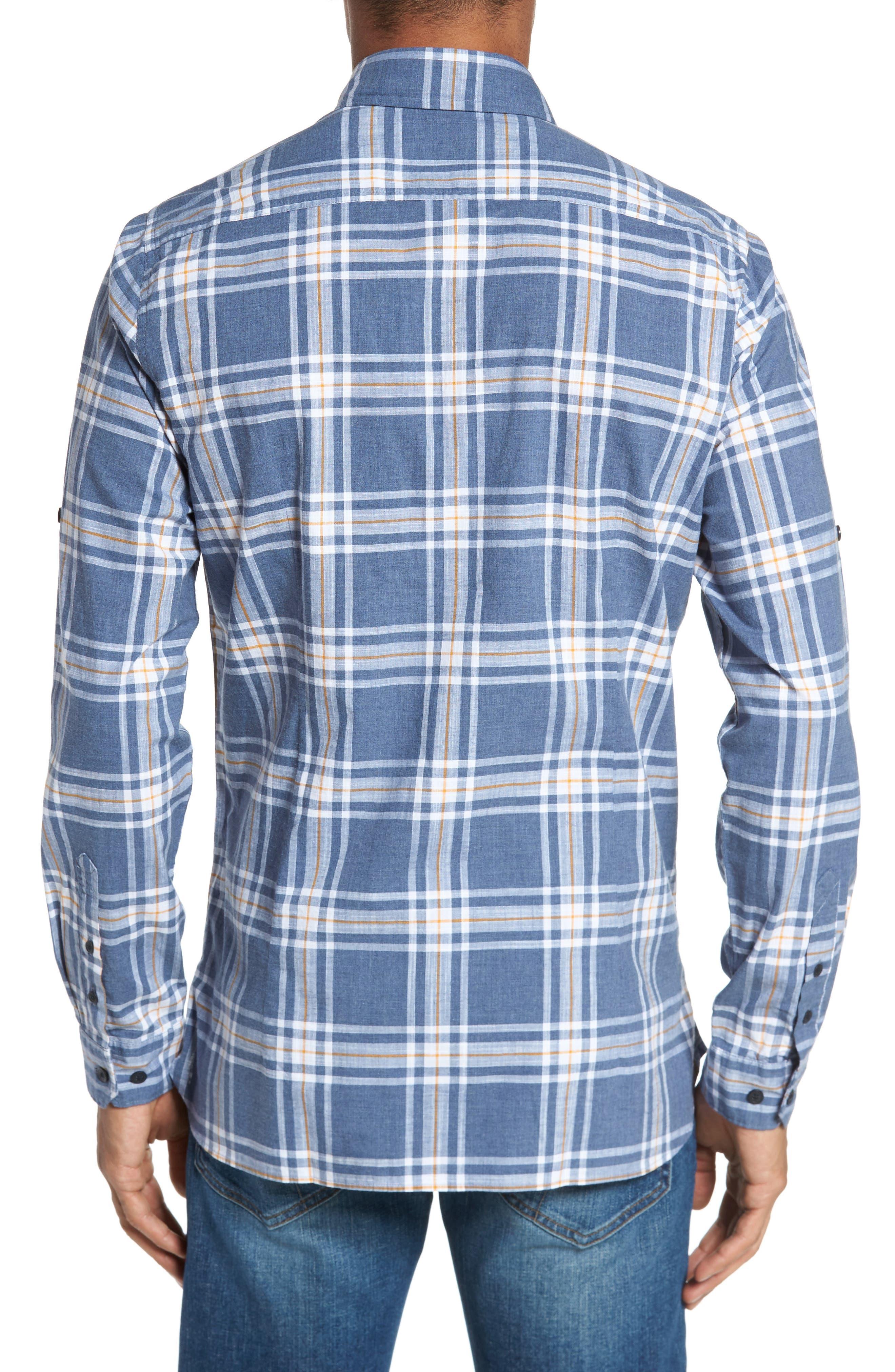 Elver Tailored Fit Plaid Sport Shirt,                             Alternate thumbnail 2, color,                             410