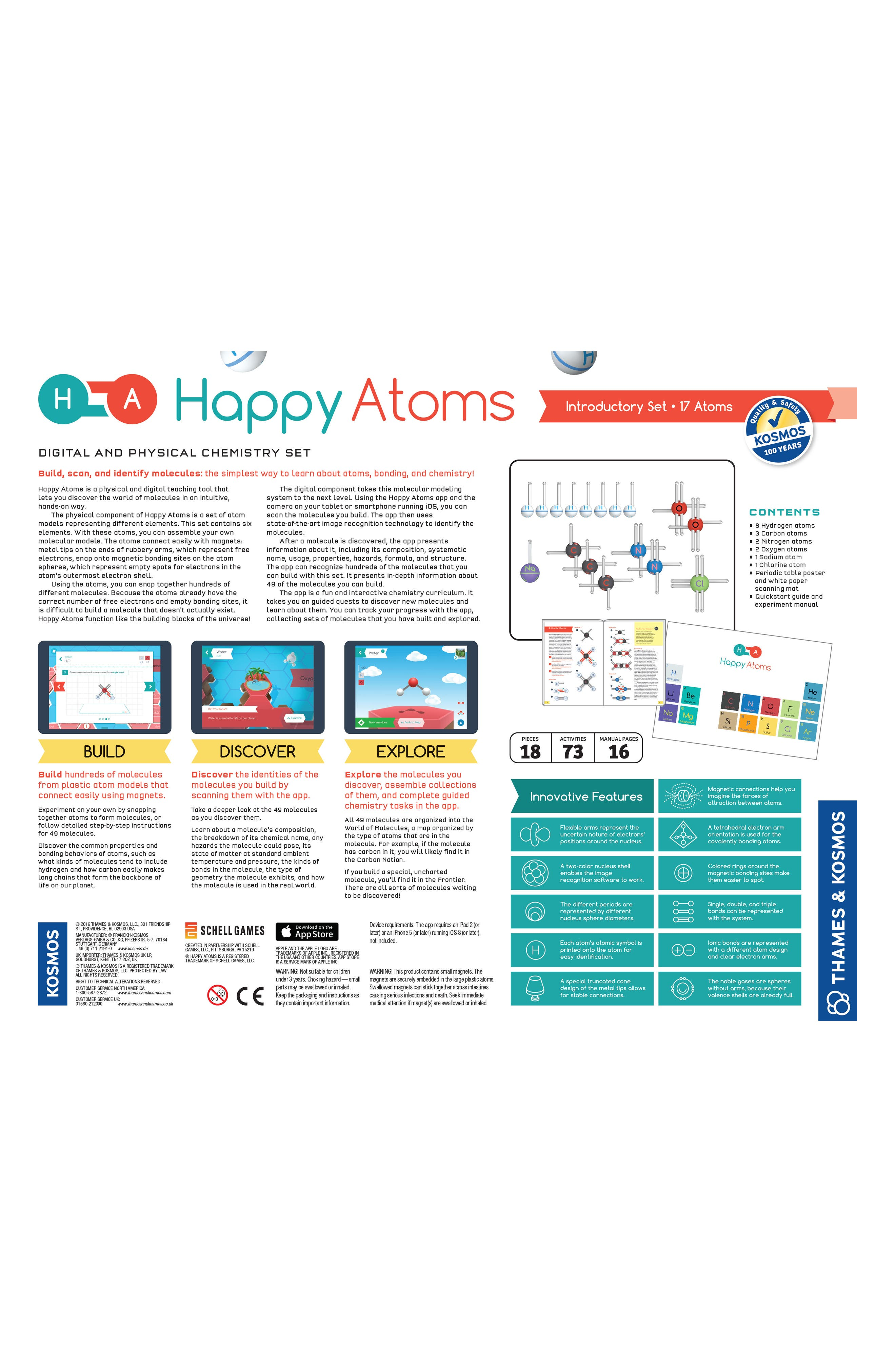 Happy Atoms and Molecules Building Set,                             Alternate thumbnail 2, color,                             MULTI