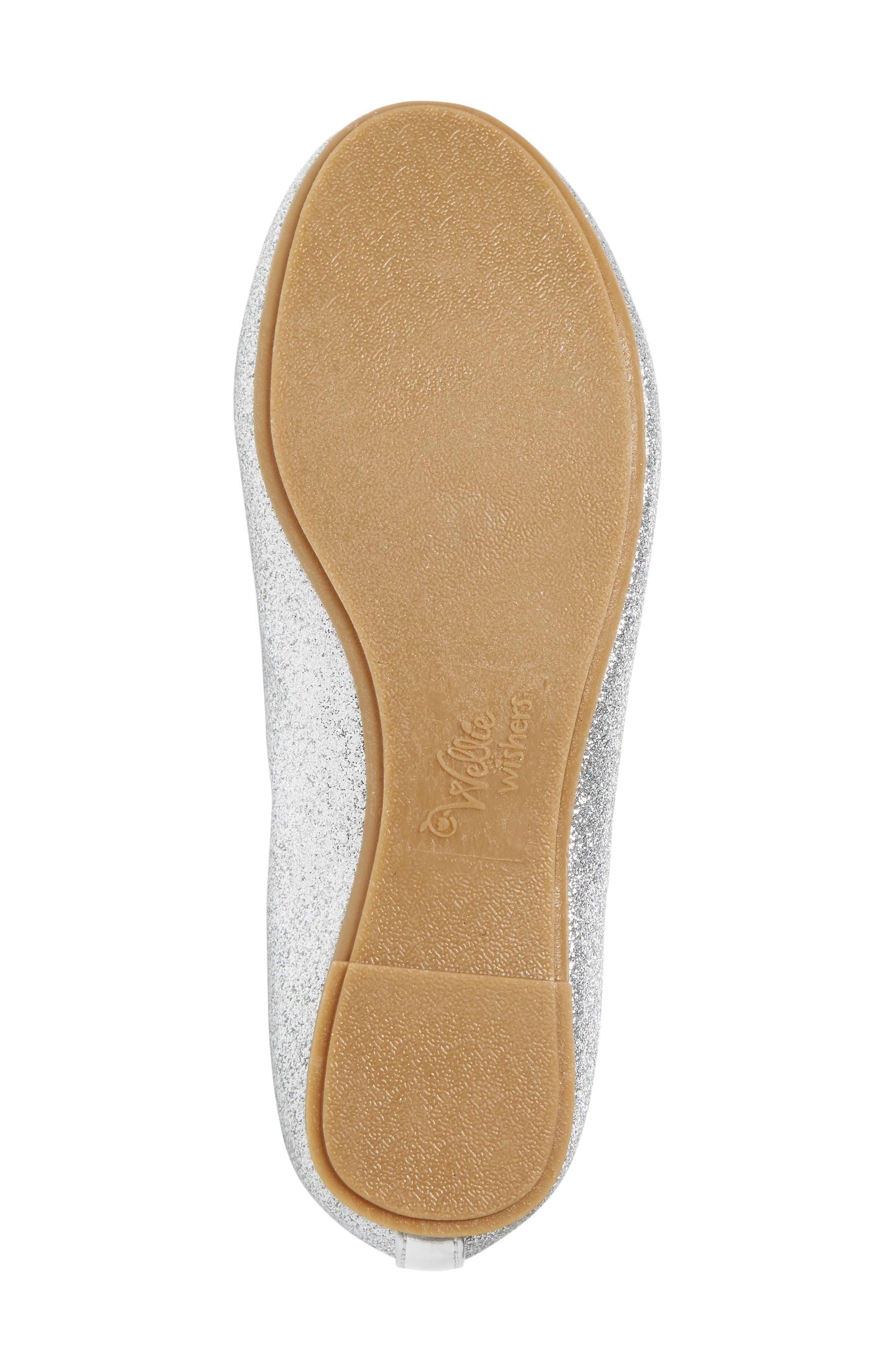 Camille Glitter Ballet Flat,                             Alternate thumbnail 6, color,                             040