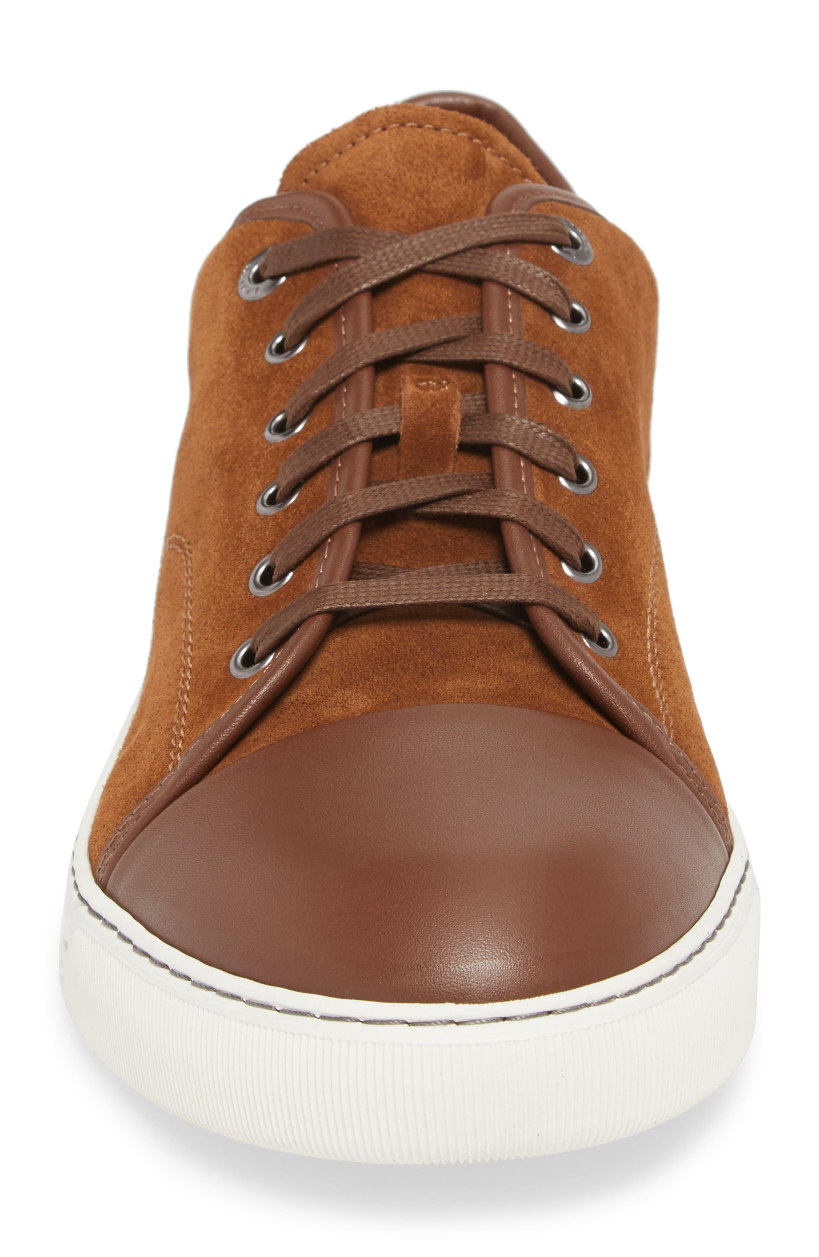 Low Top Sneaker,                             Alternate thumbnail 4, color,                             LIGHT BROWN