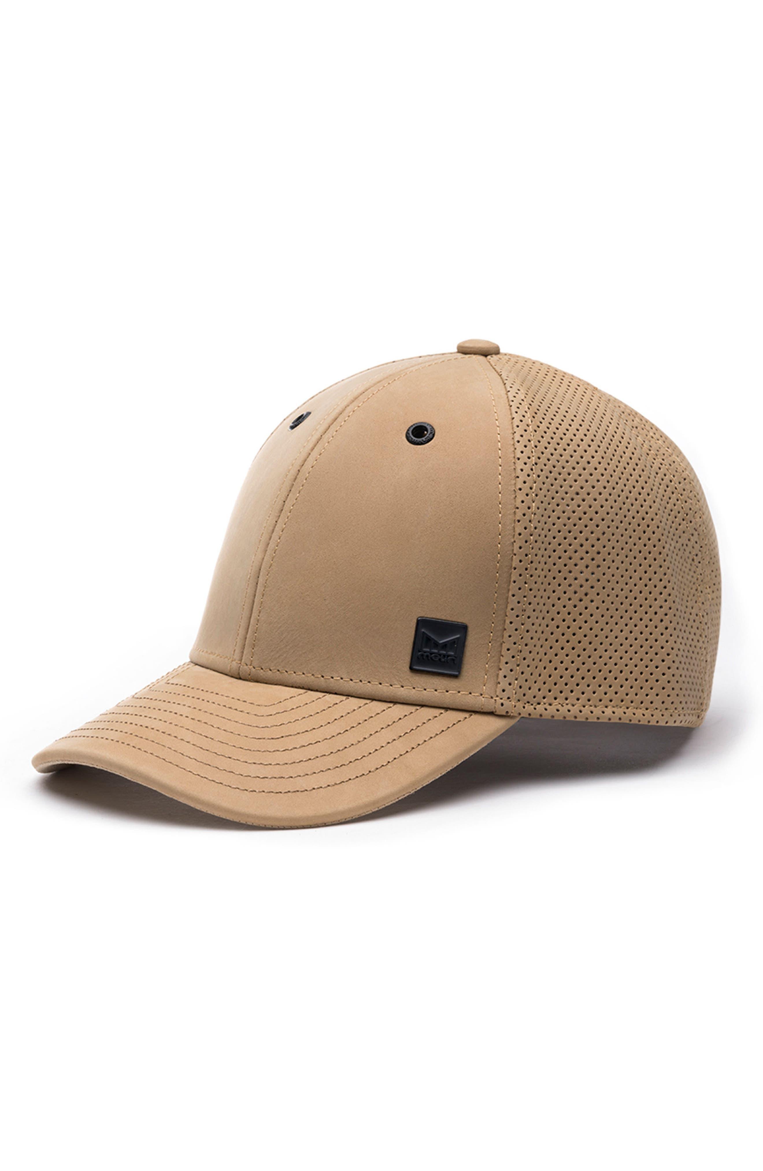 MELIN Voyage Elite Leather Ball Cap - Beige in Khaki