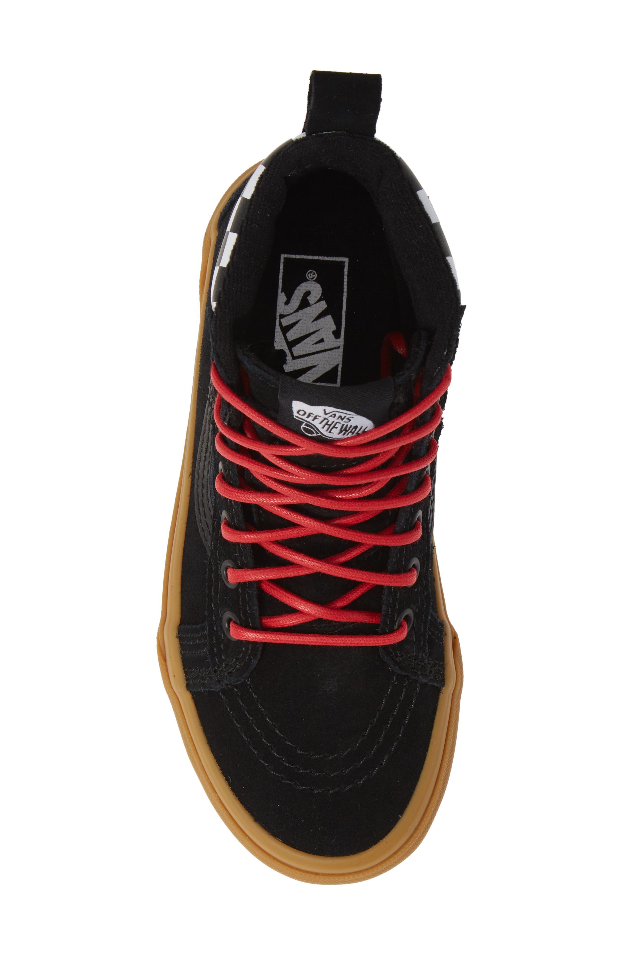 SK8-Hi Sneaker,                             Alternate thumbnail 5, color,                             CHECKERBOARD/ BLACK