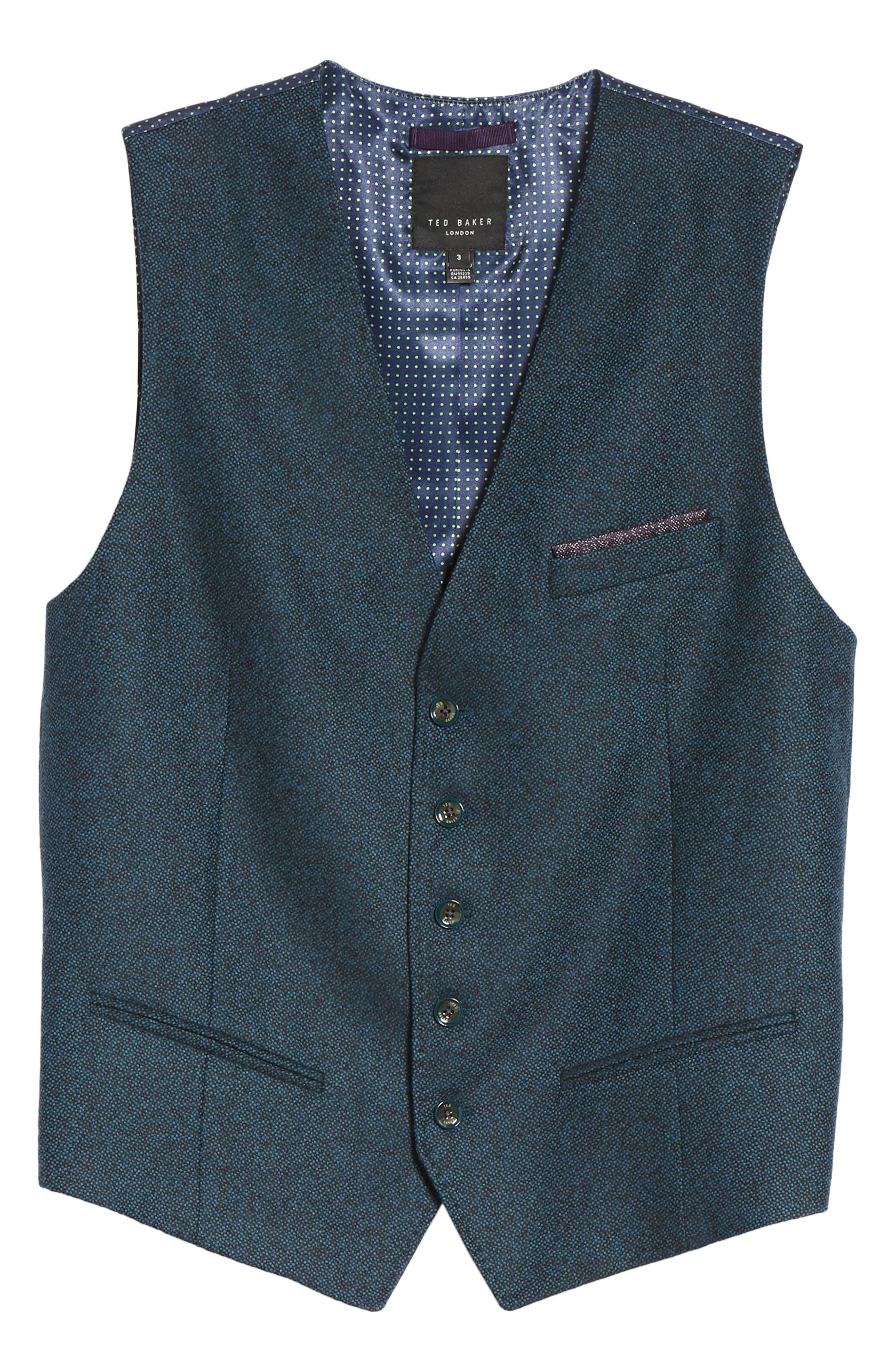 Modern Slim Fit Waistcoat,                             Alternate thumbnail 5, color,                             460