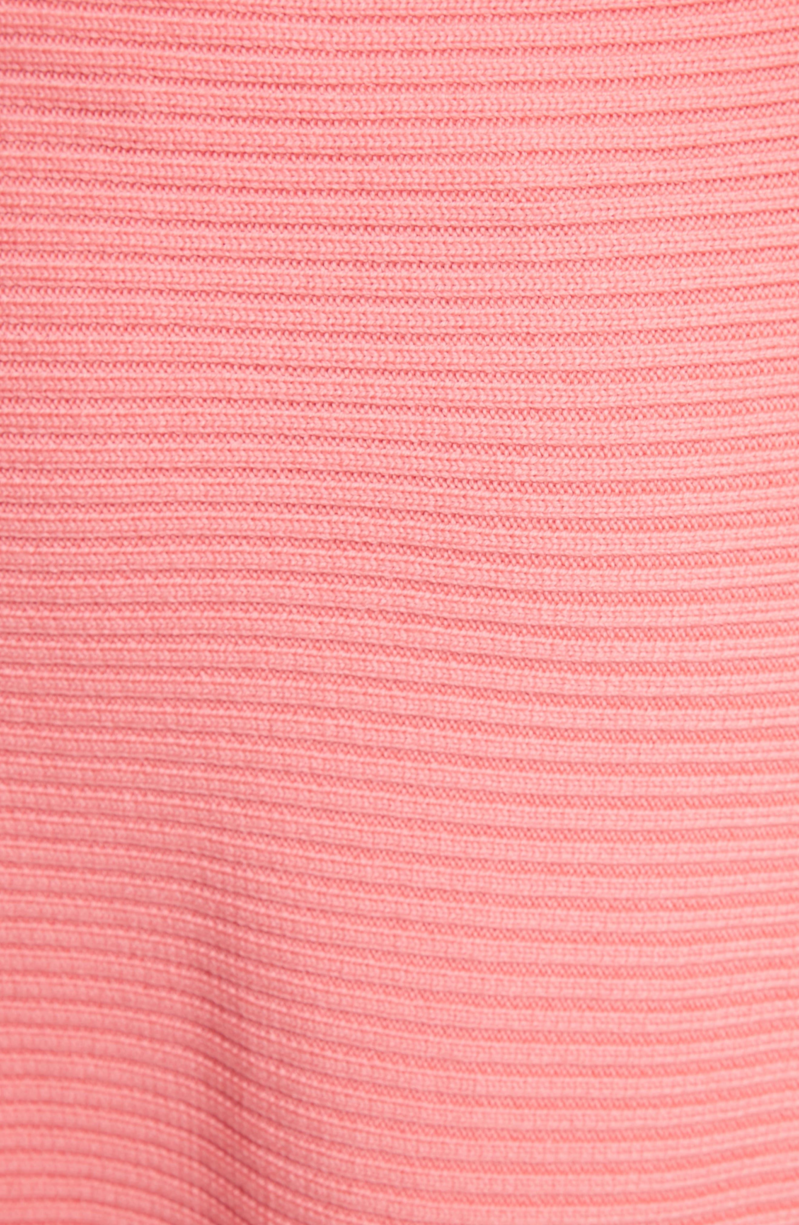 Asymmetrical Rib Merino Wool Skirt,                             Alternate thumbnail 5, color,                             650