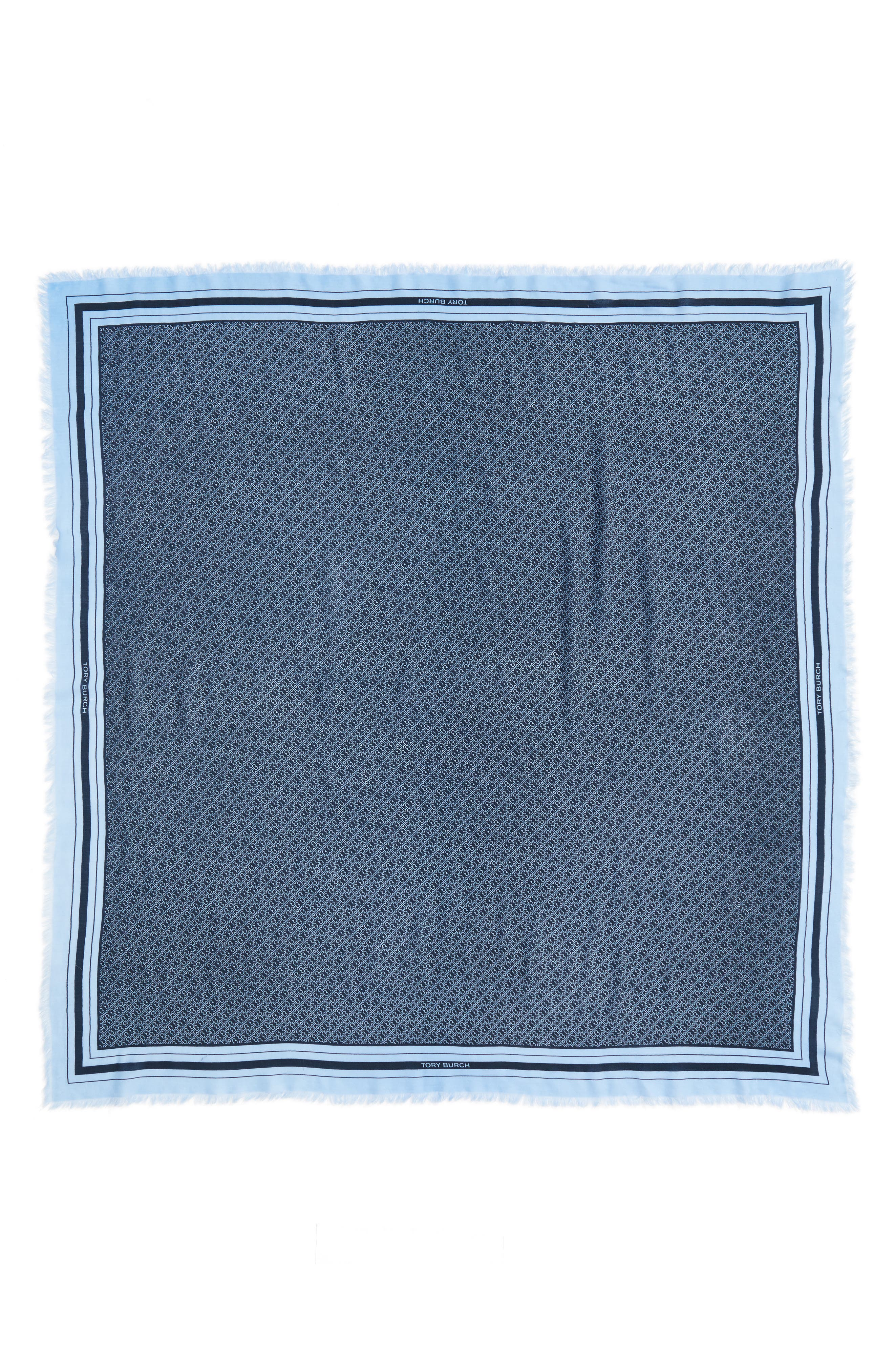 T Core Square Wool Scarf,                             Alternate thumbnail 3, color,                             405