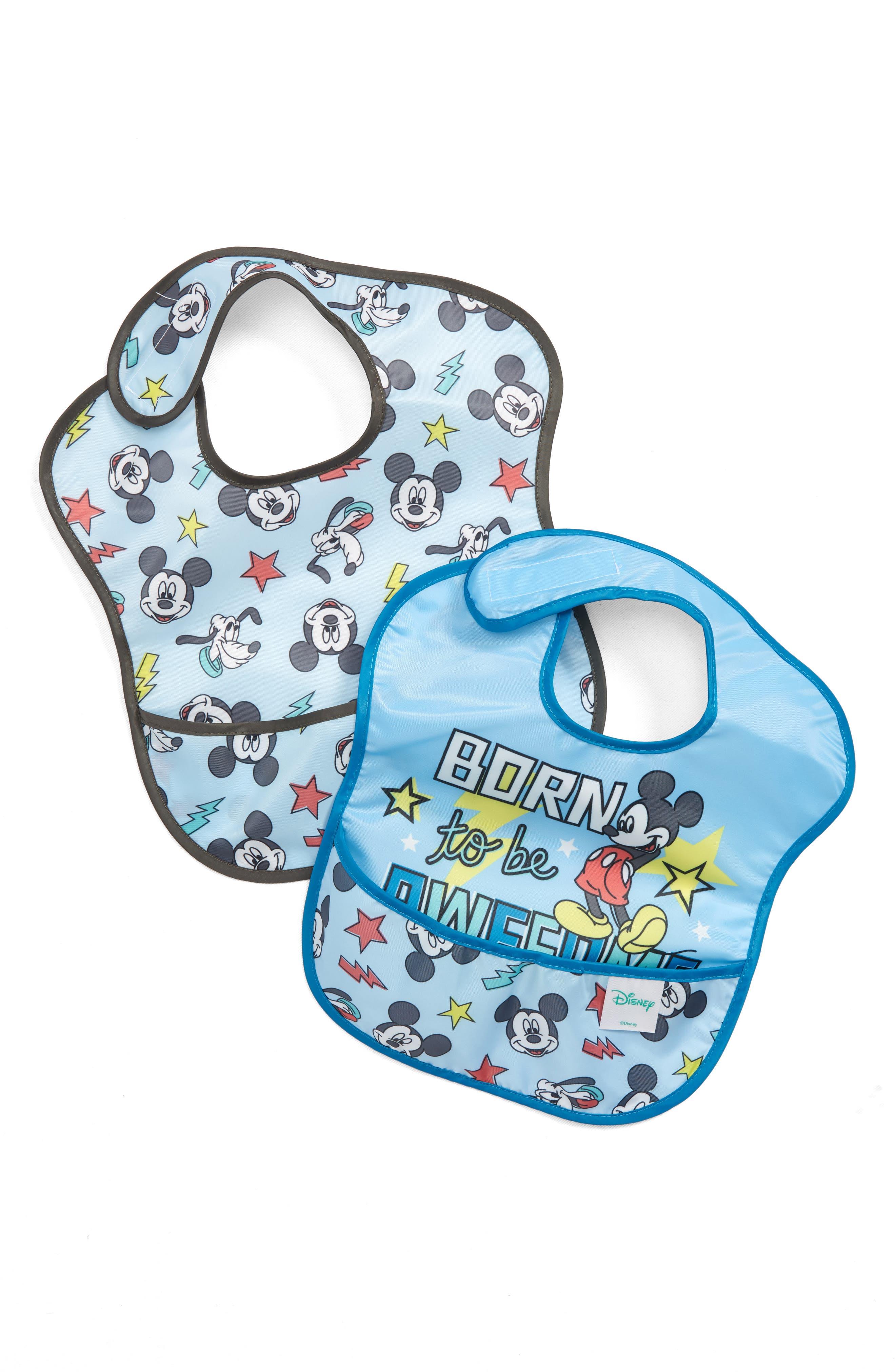 BUMKINS,                             2-Pack Mickey Mouse<sup>®</sup> SuperBib Set,                             Main thumbnail 1, color,                             400