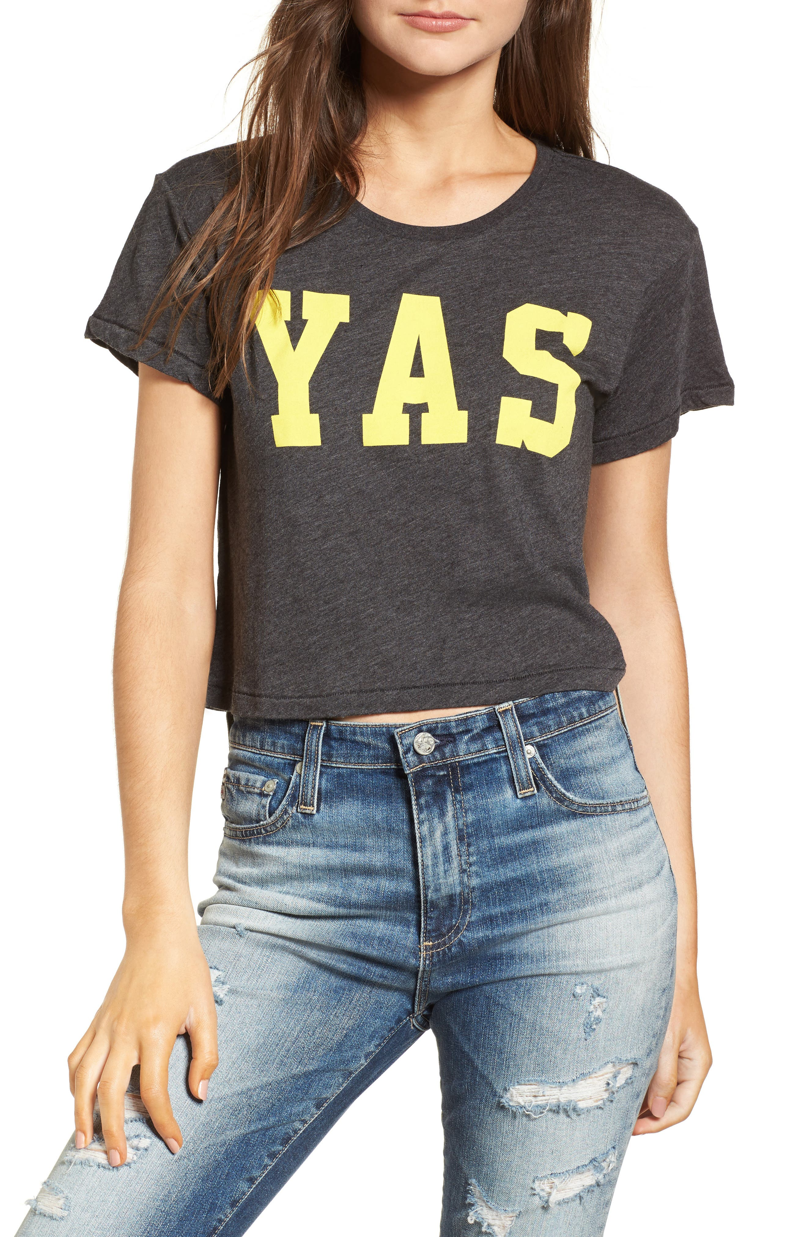 Yas Middie Tee,                             Main thumbnail 1, color,                             002