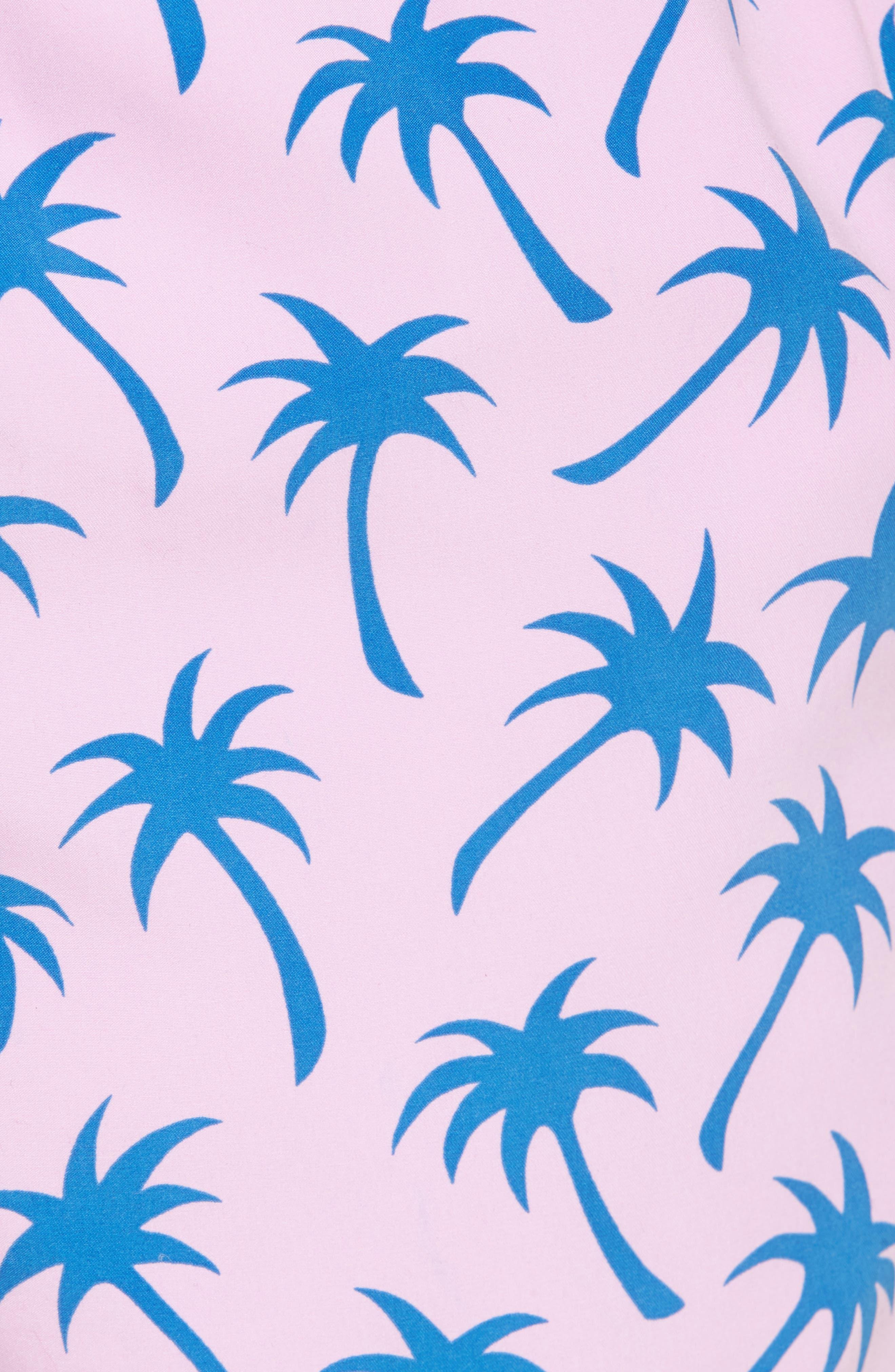 Palm Print Swim Trunks,                             Alternate thumbnail 5, color,                             439