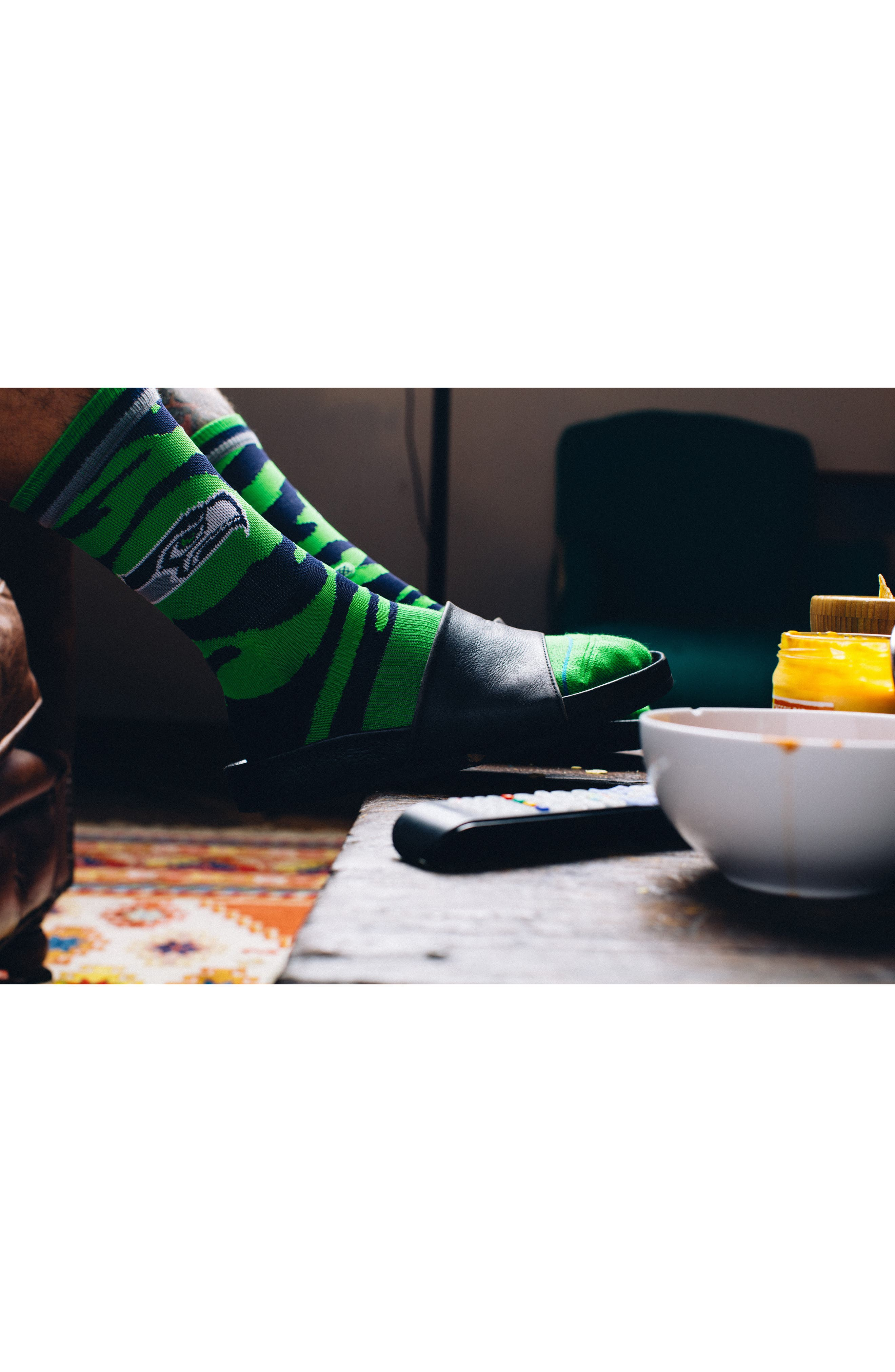 Seattle Seahawks - Fade Socks,                             Alternate thumbnail 4, color,                             300