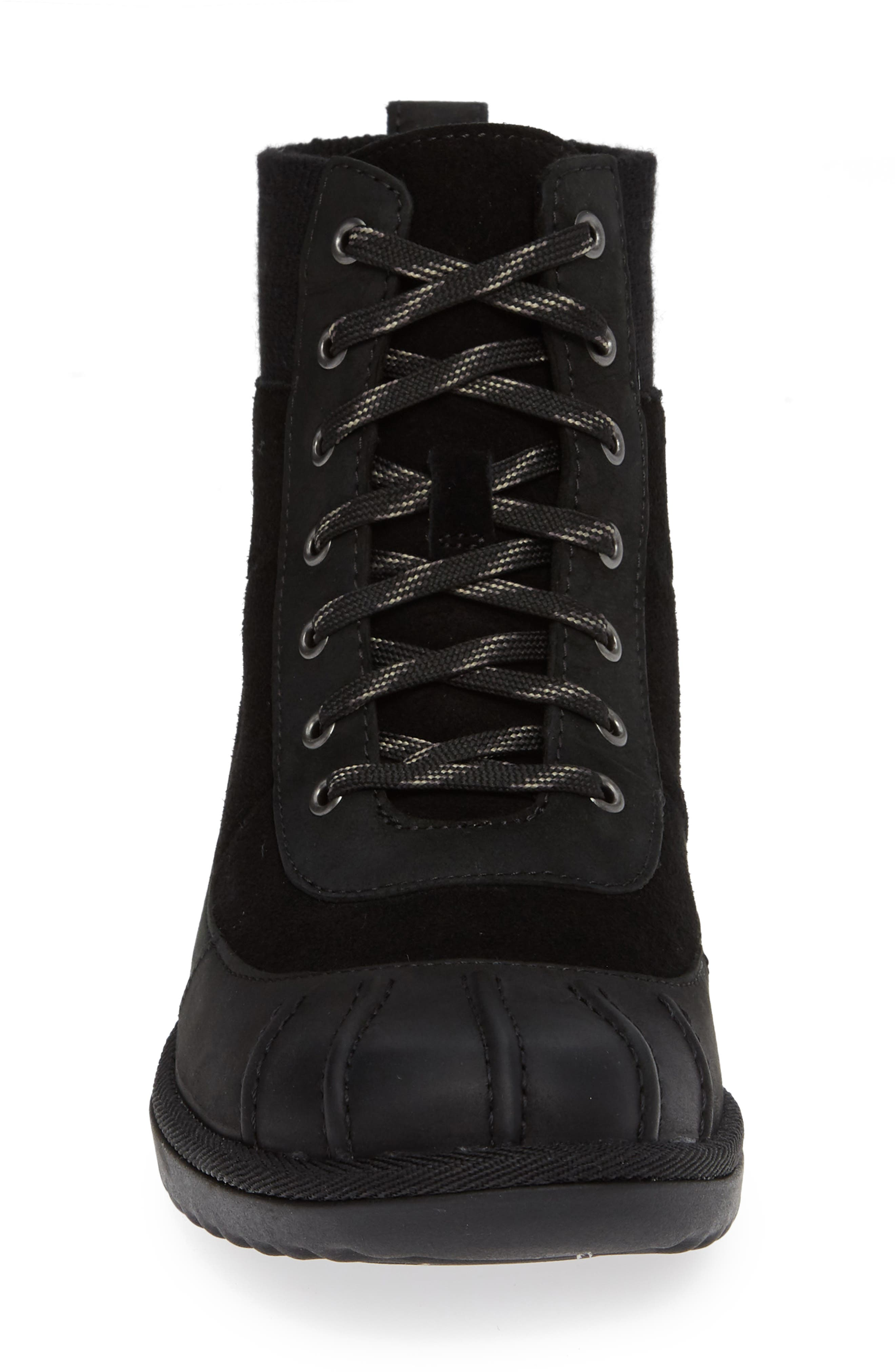 Cayli Waterproof Duck Boot,                             Alternate thumbnail 4, color,                             BLACK