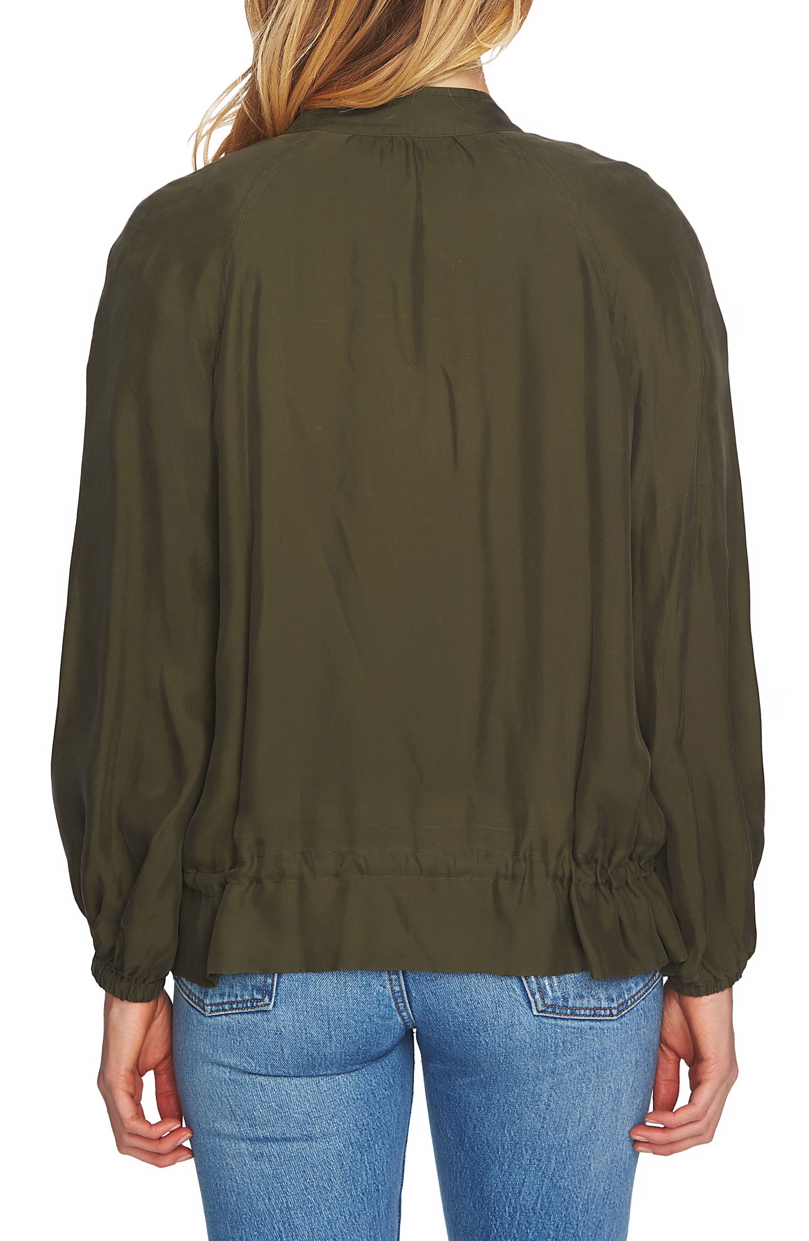 Blouson Sleeve Bomber Jacket,                             Alternate thumbnail 2, color,                             311