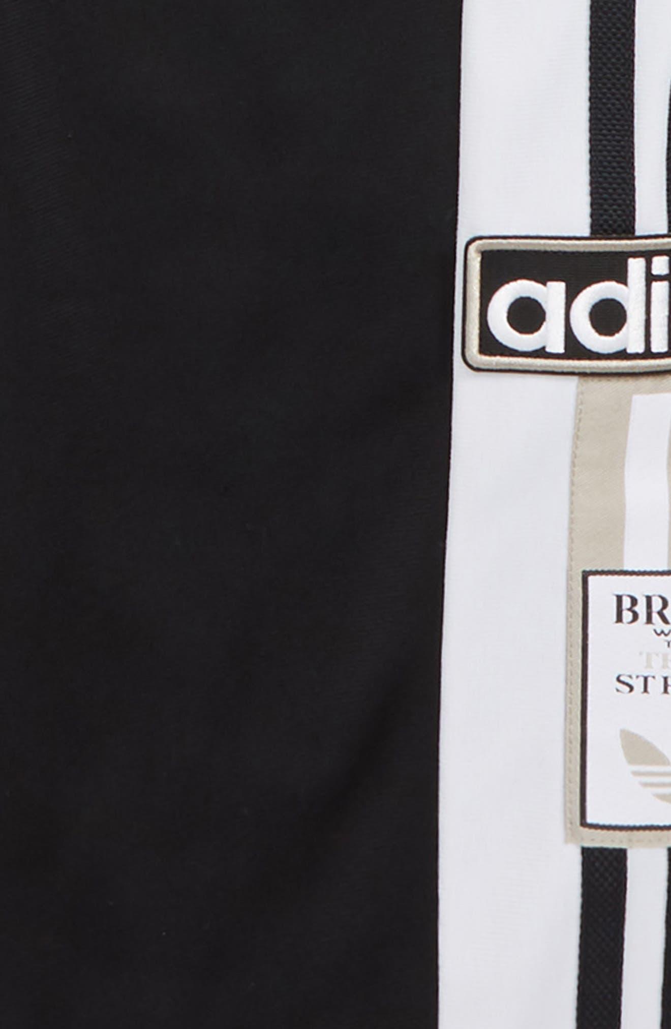 Adibreak Track Pants,                             Alternate thumbnail 2, color,                             BLACK/ WHITE