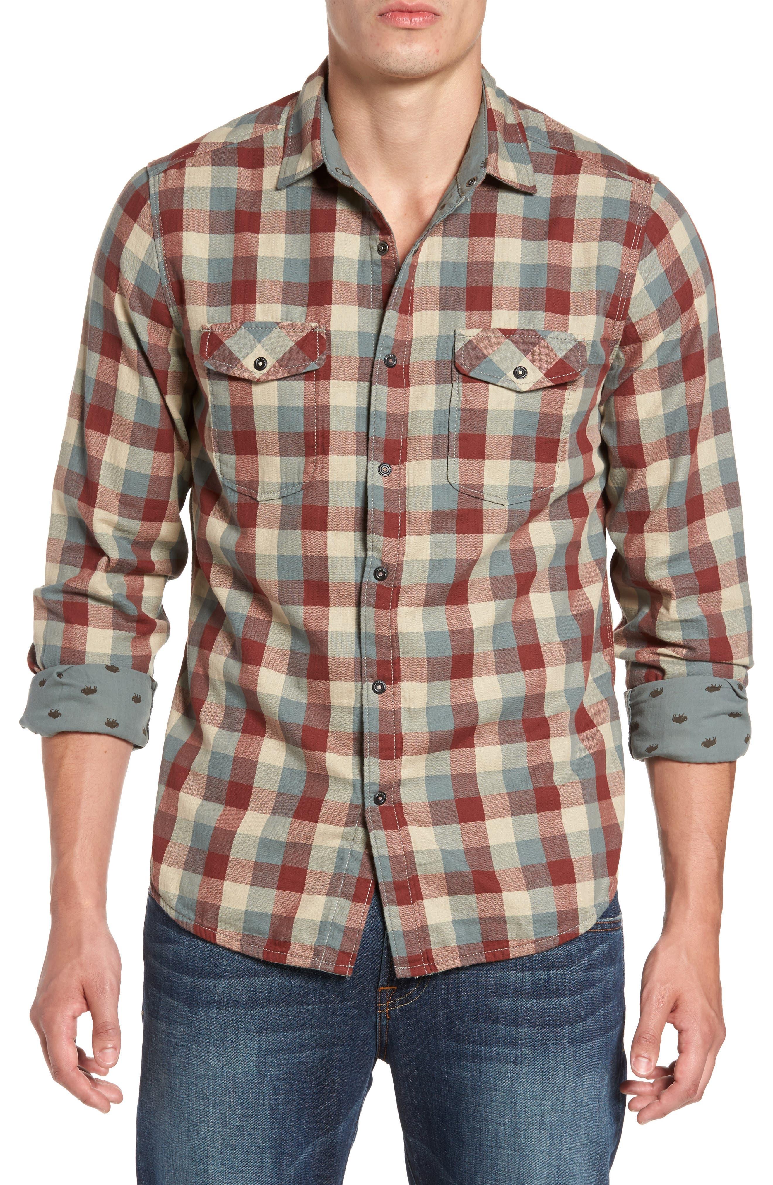 Reversible Regular Fit Sport Shirt,                         Main,                         color, 424