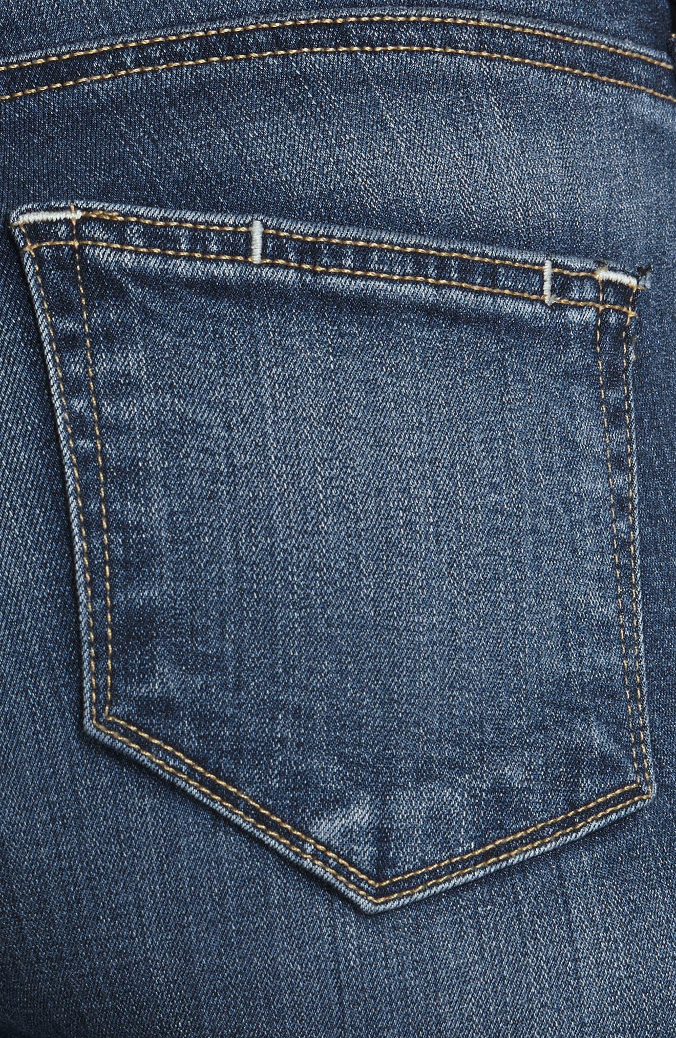 Transcend - Verdugo Ankle Skinny Jeans,                             Alternate thumbnail 4, color,                             TRISTAN