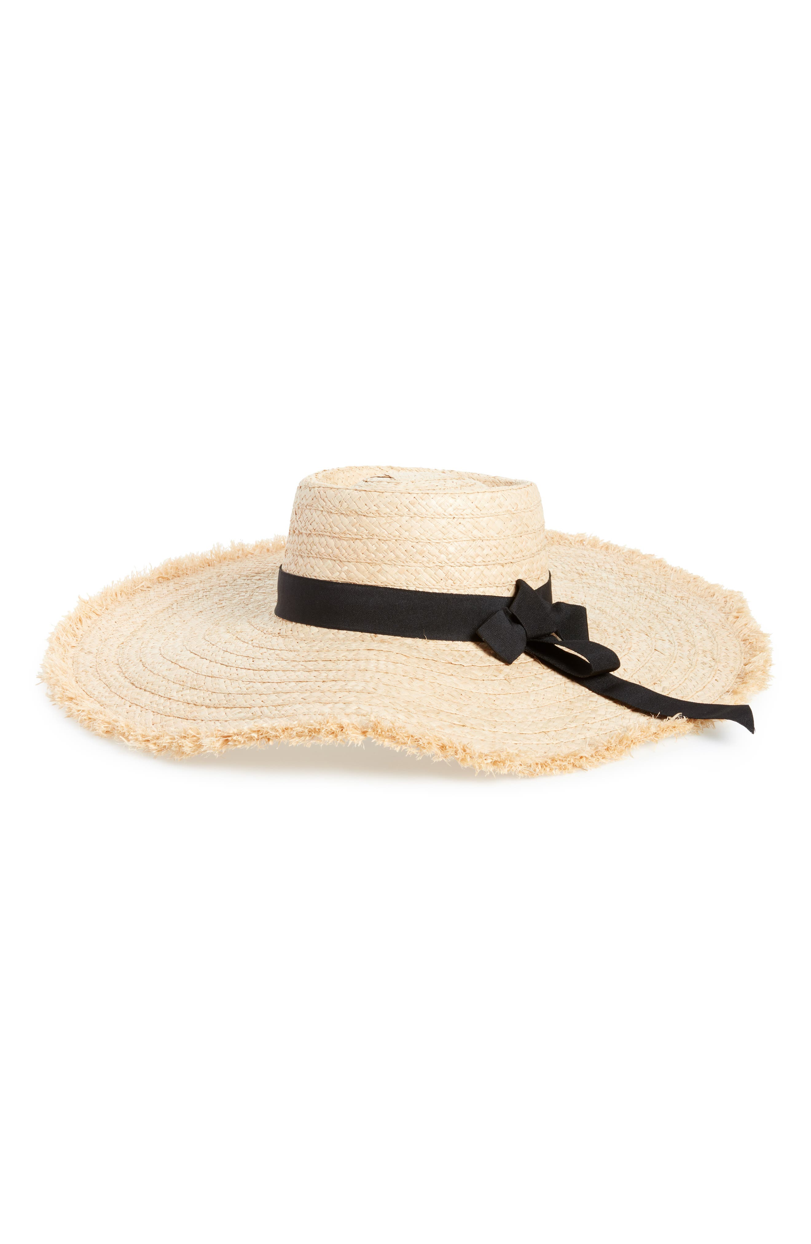 Wide Brim Sun Hat,                         Main,                         color, IVORY