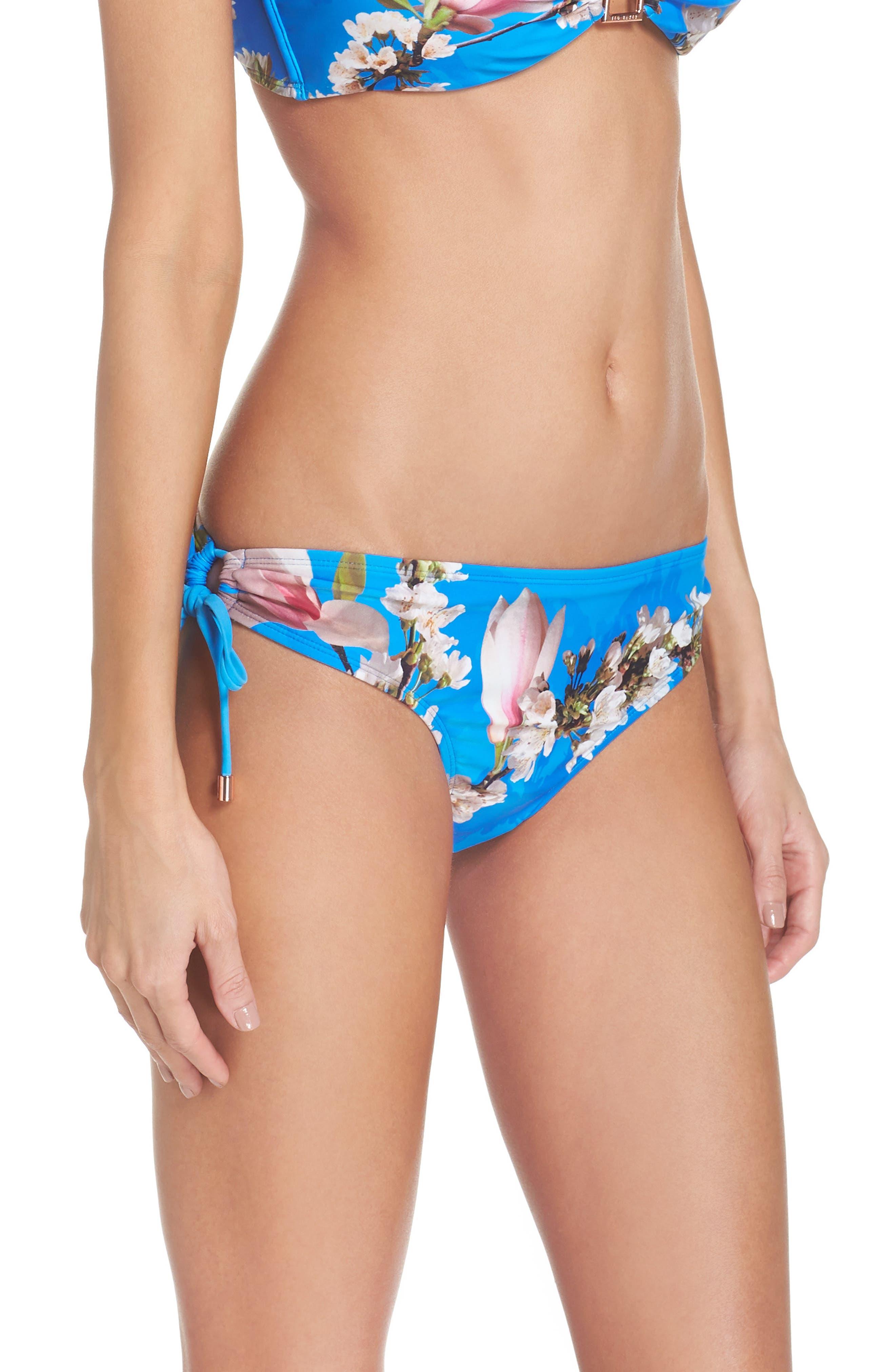 Harmony Side Tie Bikini Bottoms,                             Alternate thumbnail 3, color,                             430