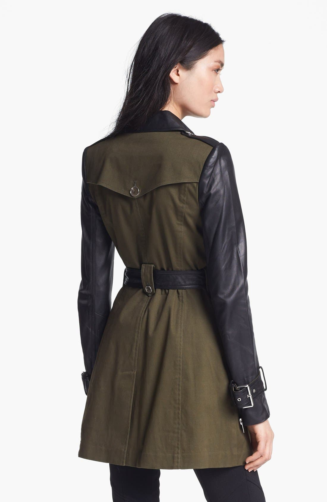 RACHEL ZOE,                             Belted Double Breasted Trench Coat,                             Alternate thumbnail 5, color,                             340