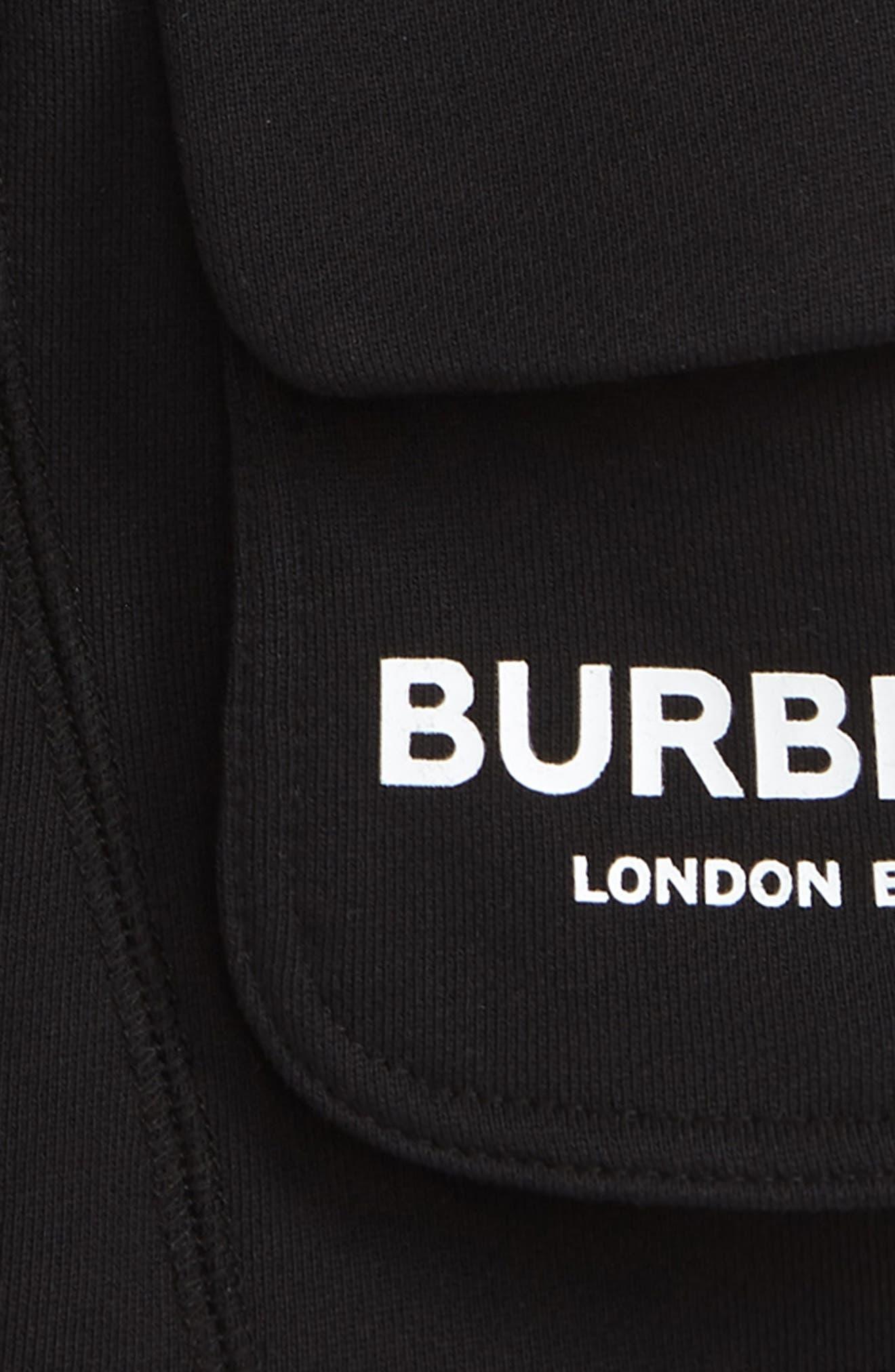 BURBERRY,                             Knit Shorts,                             Alternate thumbnail 3, color,                             BLACK