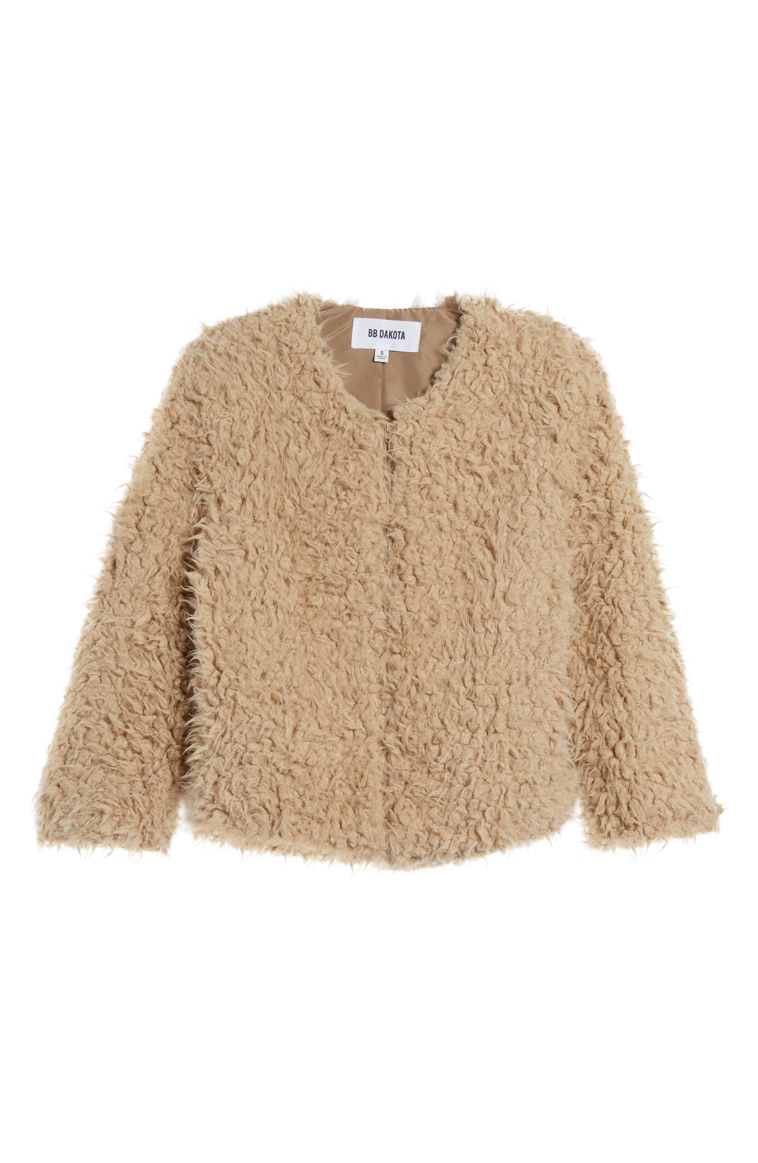 Macy Faux Fur Jacket,                             Alternate thumbnail 5, color,                             251