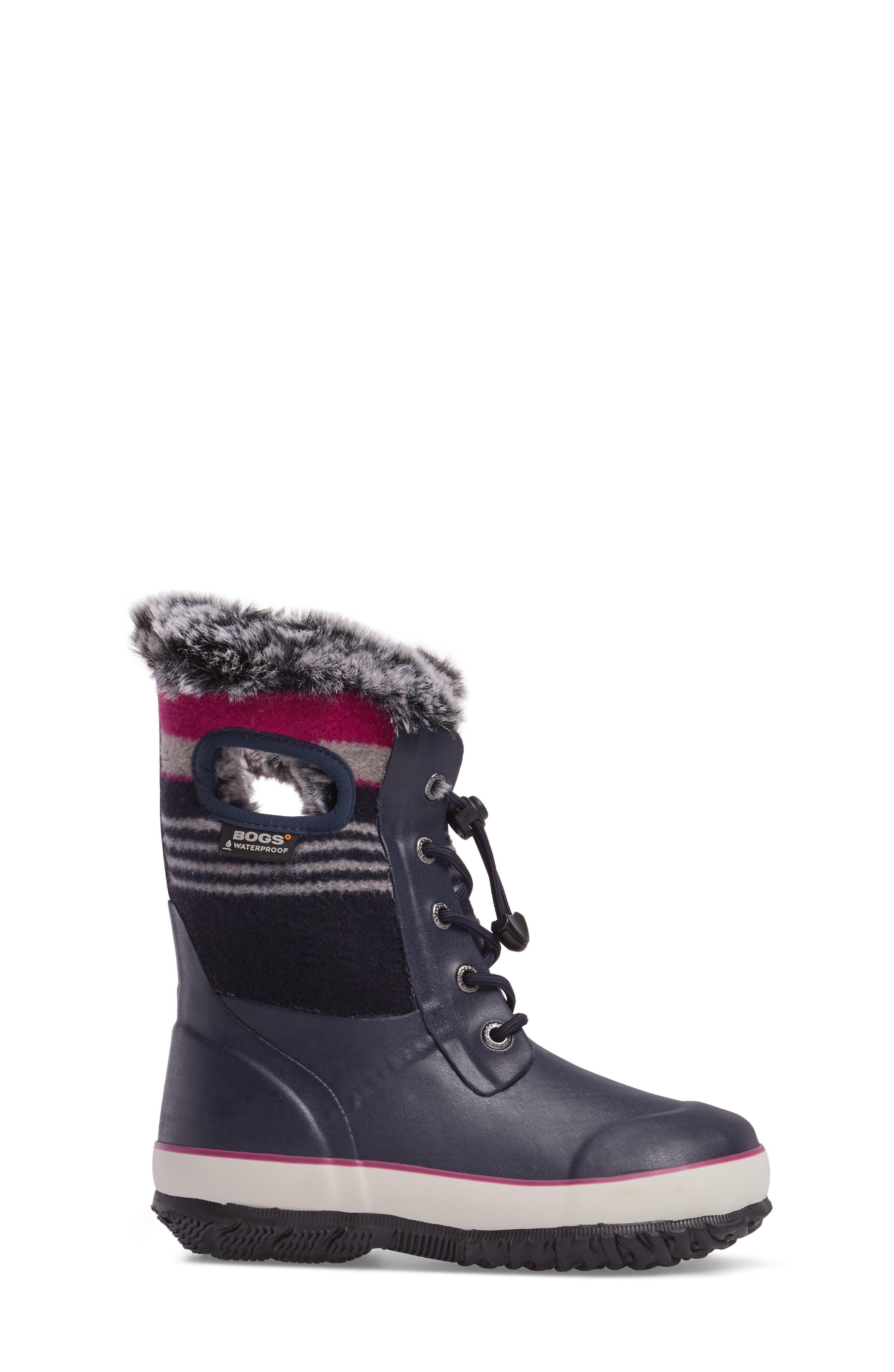 Arcata Stripe Waterproof Insulated Faux Fur Boot,                             Alternate thumbnail 8, color,