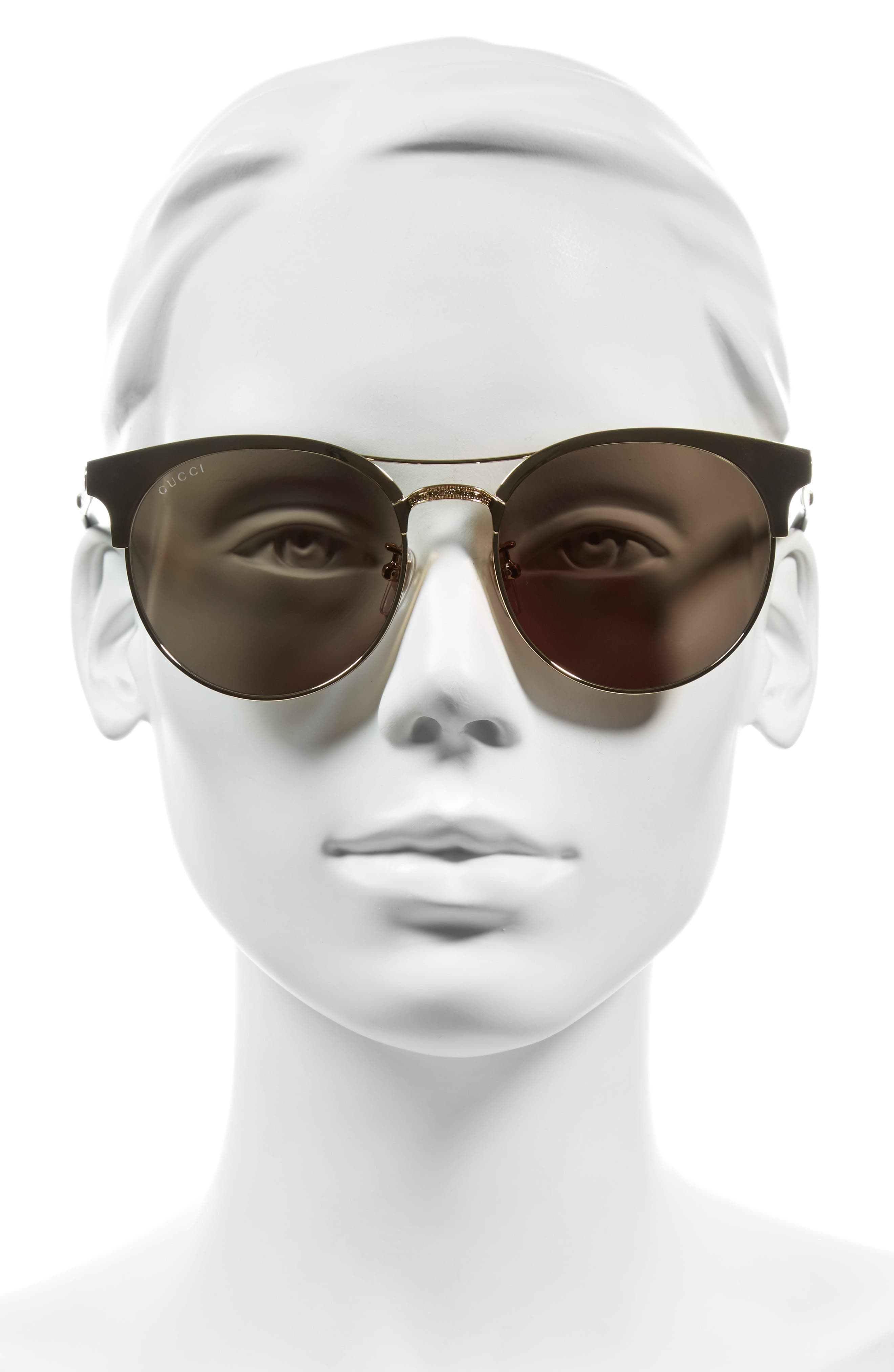 56mm Retro Sunglasses,                             Alternate thumbnail 5, color,