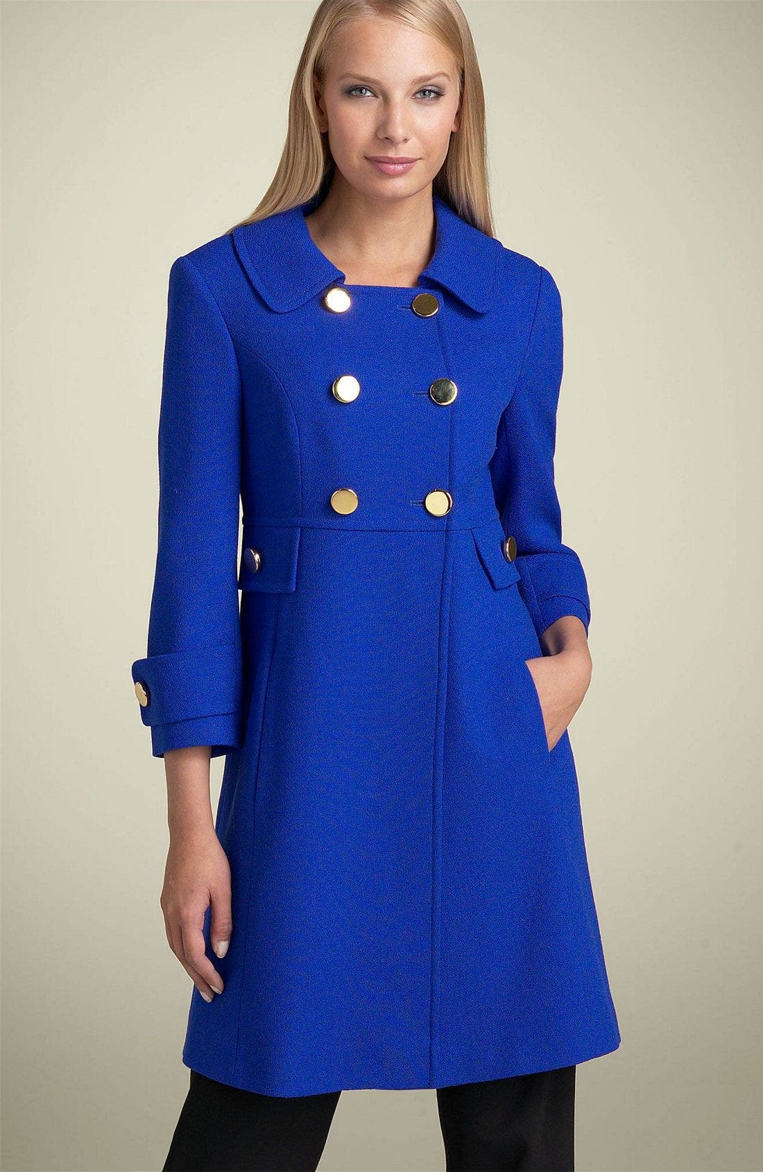 Charles Gray Wool Princess Coat,                             Main thumbnail 1, color,                             460
