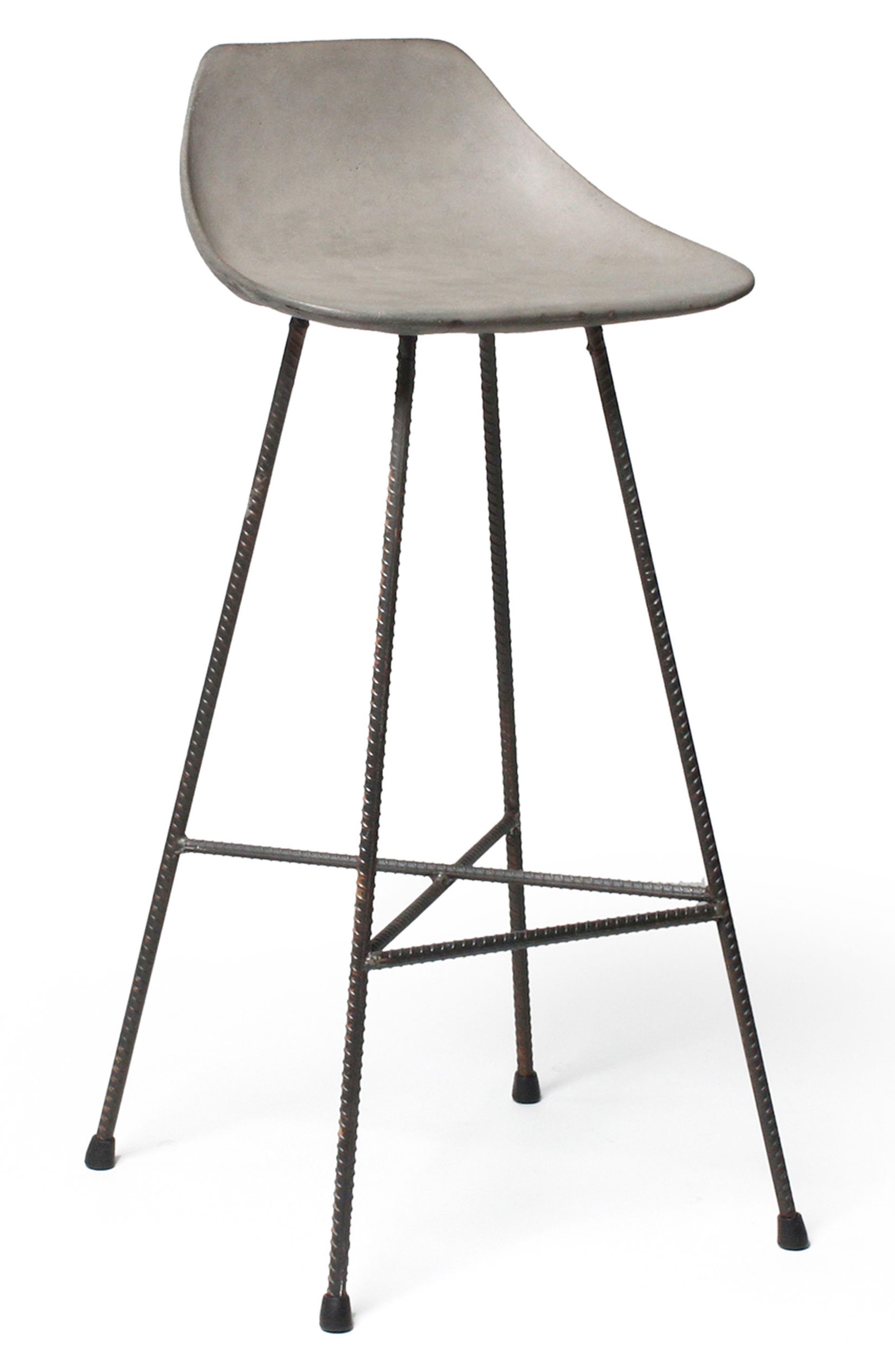 Lyon Béton Hauteville Bar Chair,                             Alternate thumbnail 5, color,                             CEMENT