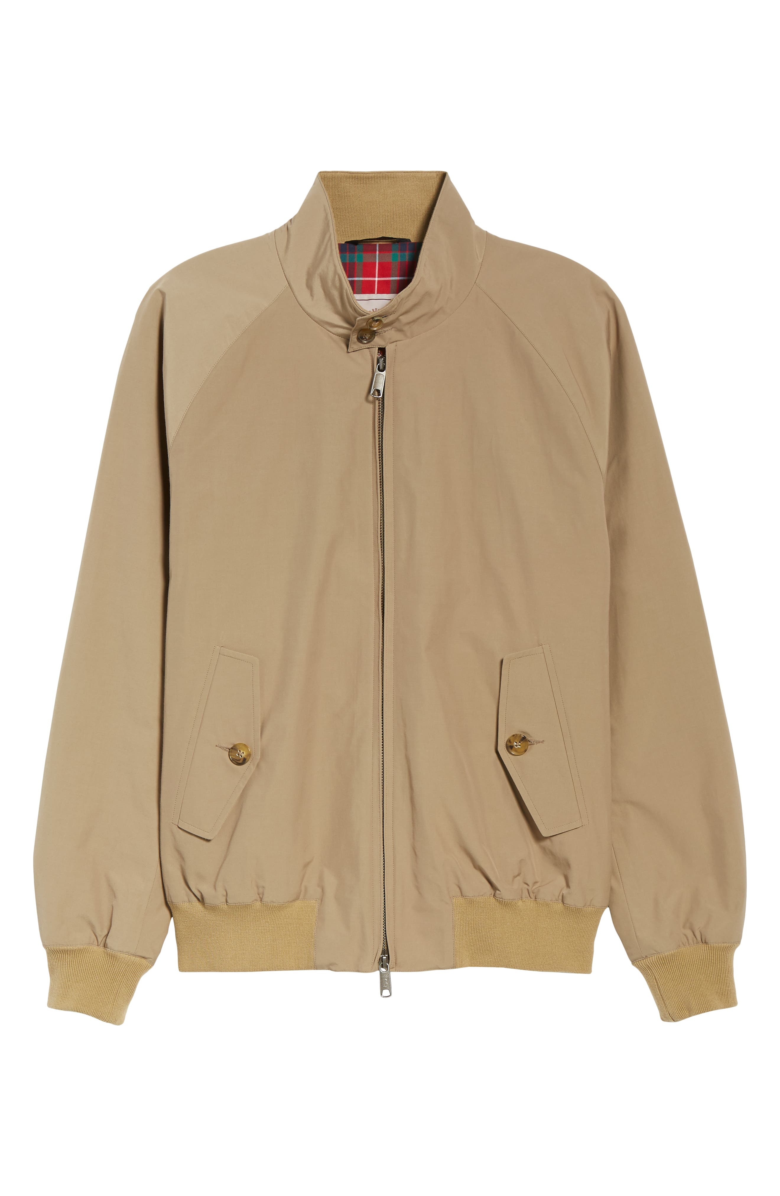 G9 Water Repellent Harrington Jacket,                             Alternate thumbnail 6, color,                             TAN