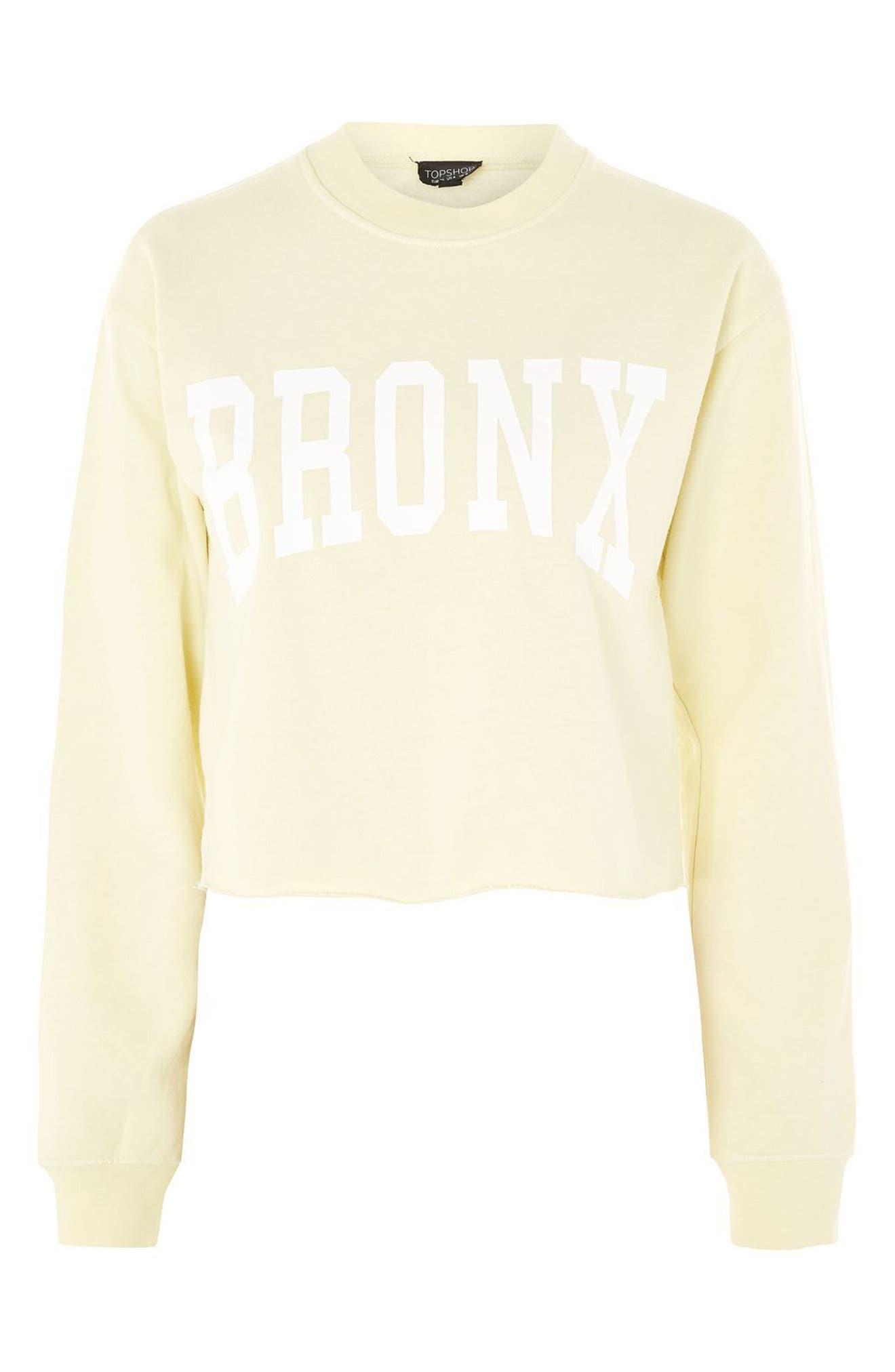 Bronx Cropped Sweatshirt,                             Alternate thumbnail 4, color,