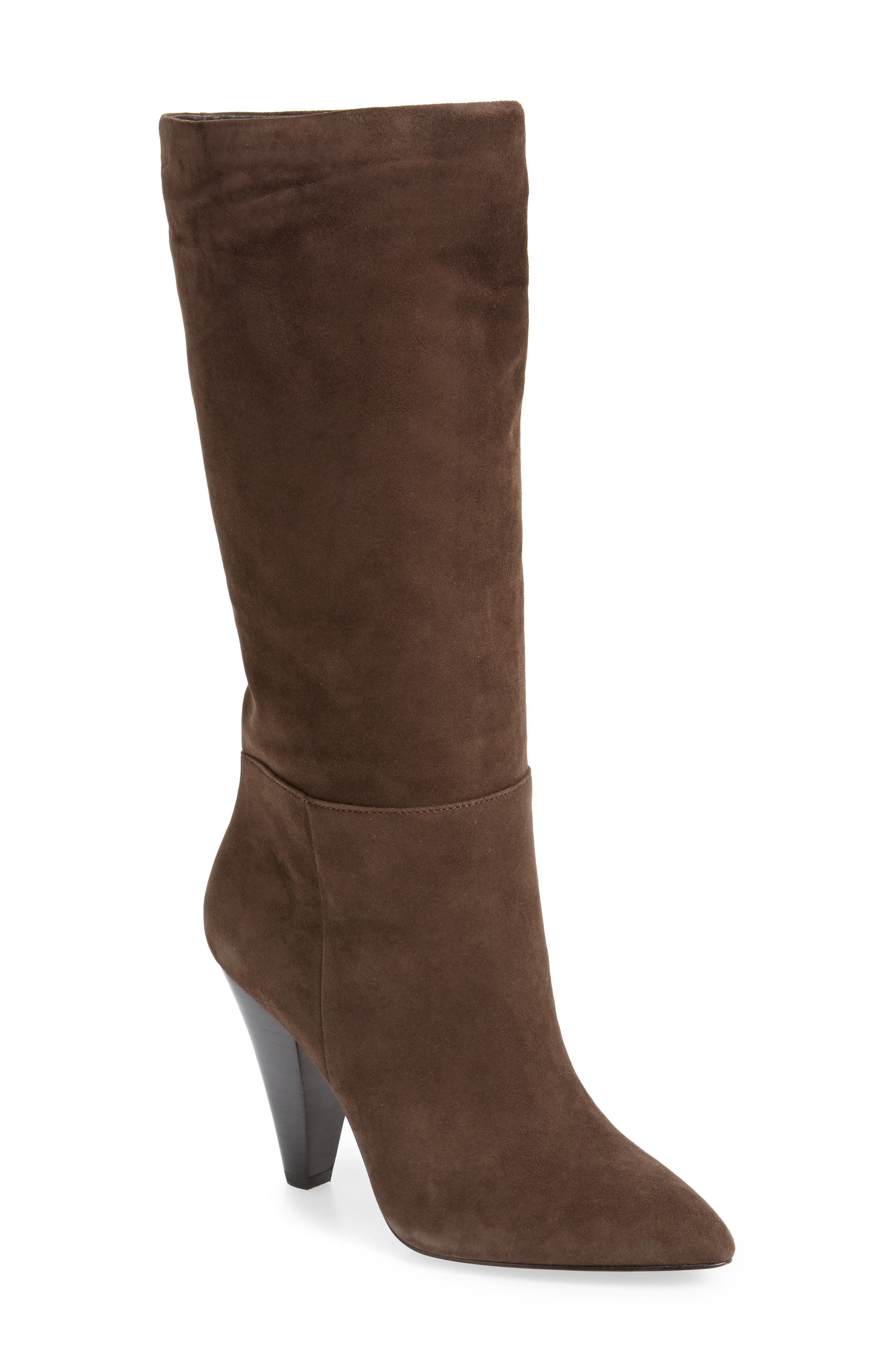 Parker Suede Boot,                             Main thumbnail 1, color,                             CHOCOLATE SUEDE