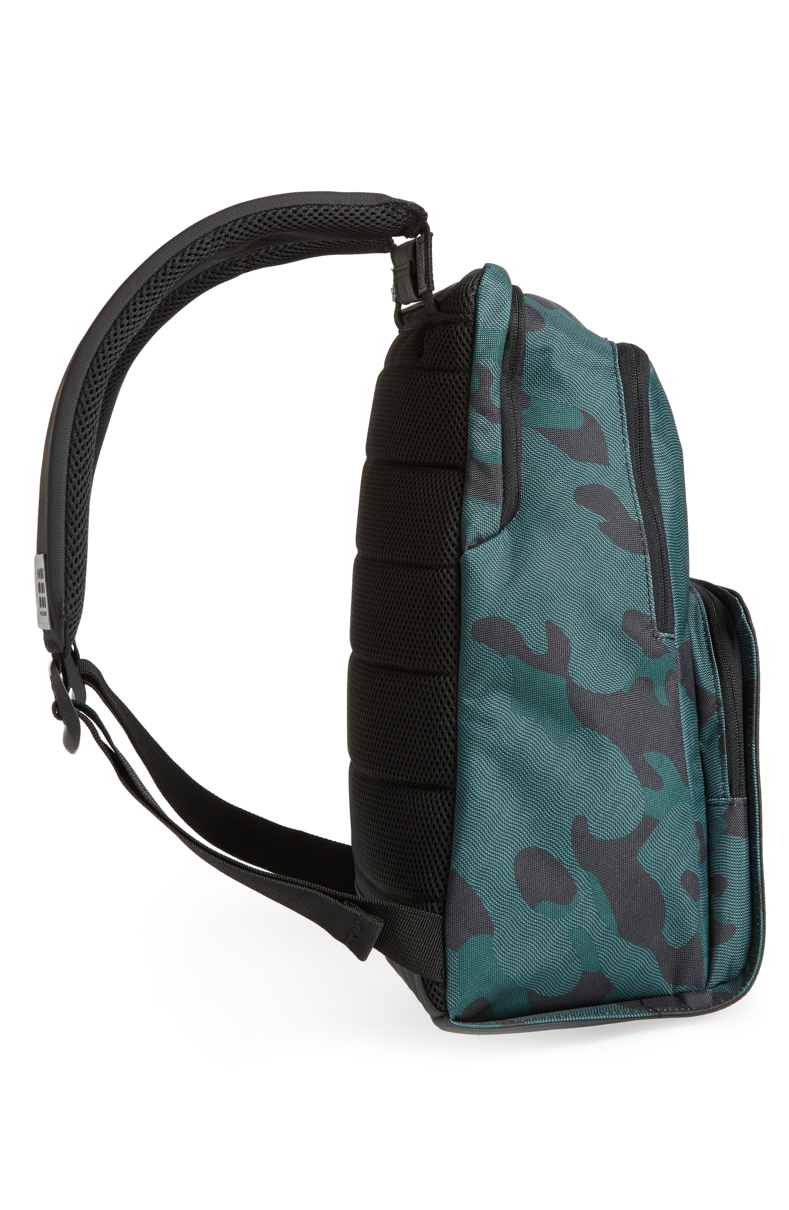 Nomad Water Resistant Backpack,                             Alternate thumbnail 5, color,                             CAMO GREEN