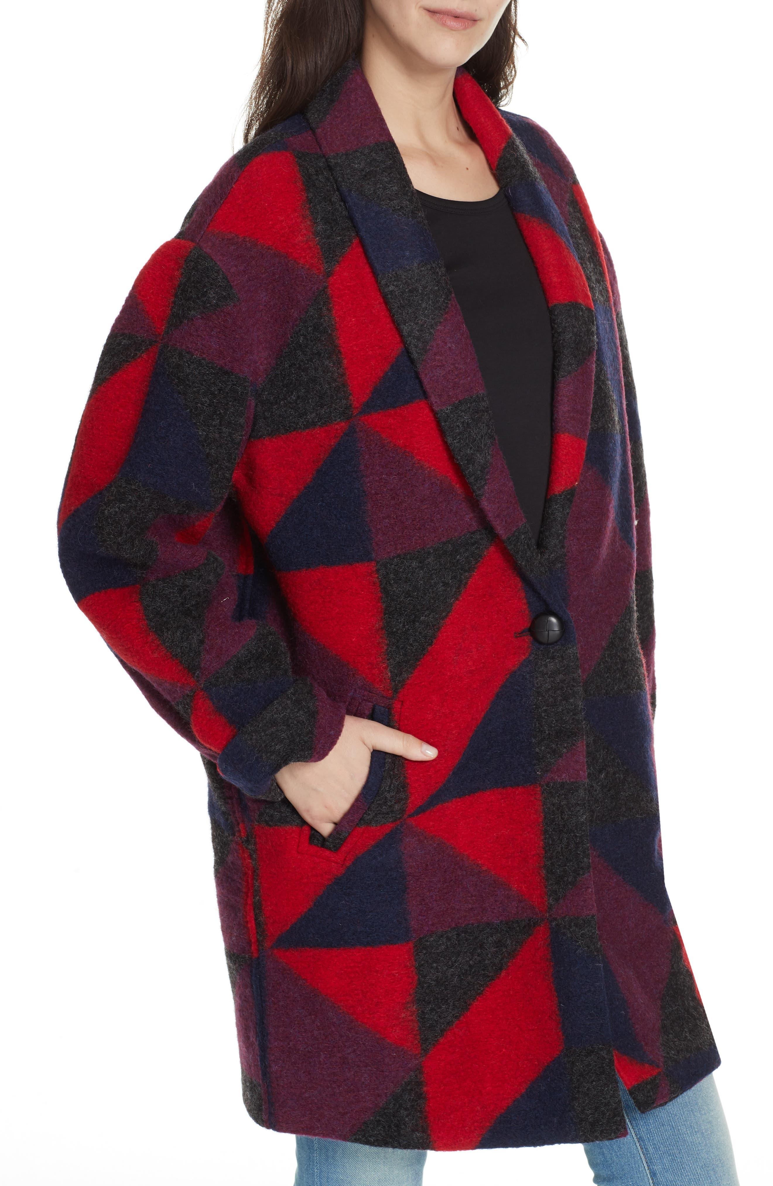 Halona Blanket Coat,                             Alternate thumbnail 4, color,                             002