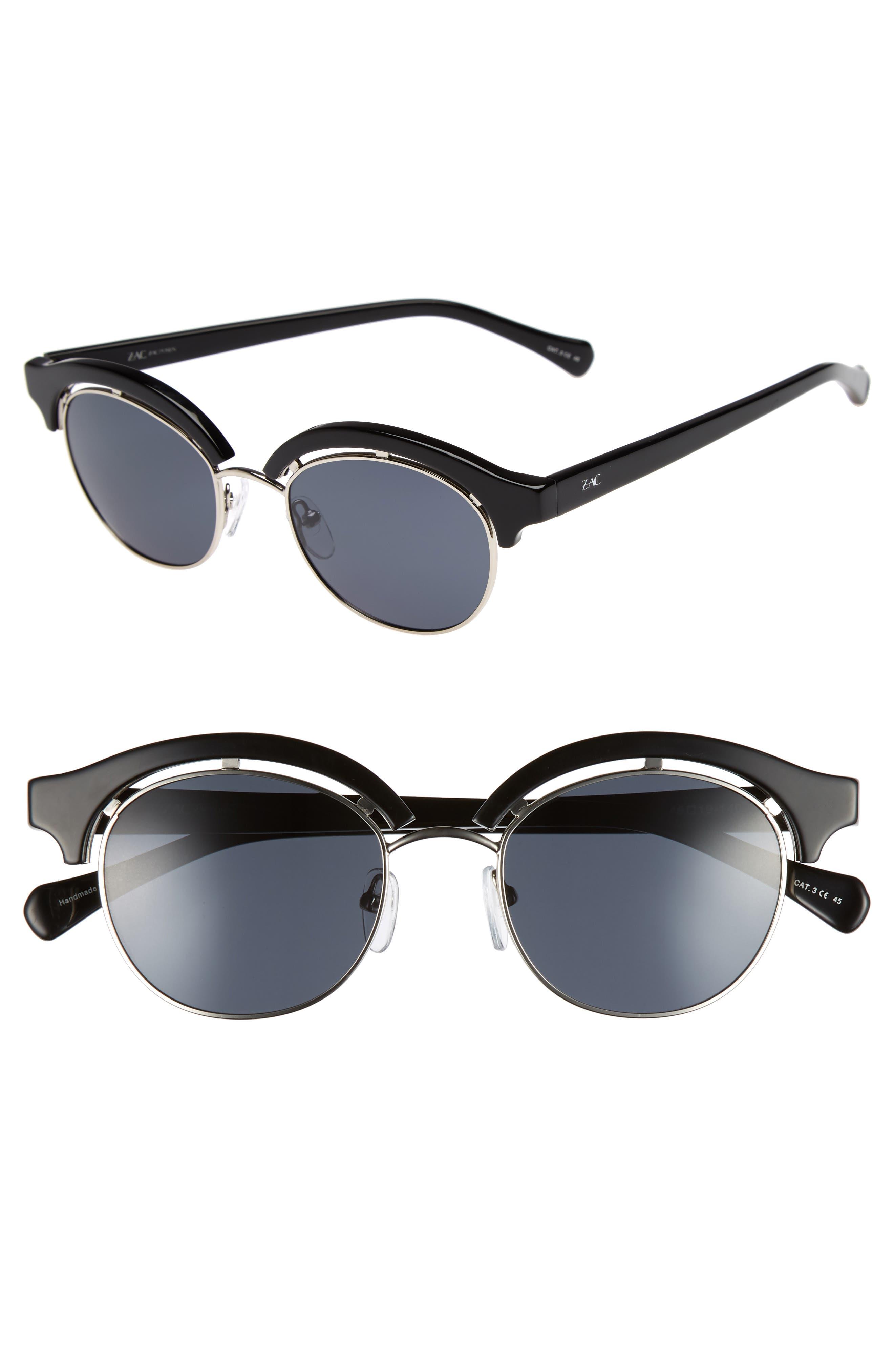 Pomona 48mm Polarized Sunglasses,                             Main thumbnail 1, color,                             BLACK POLAR
