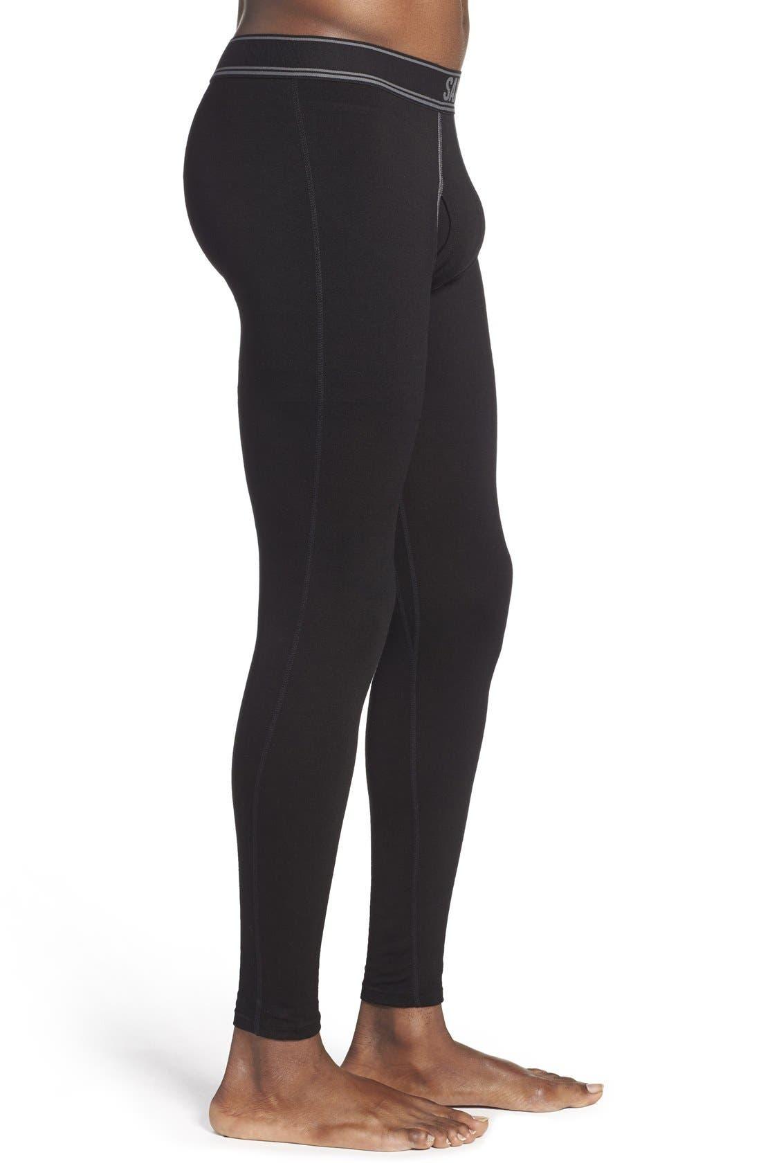 SAXX,                             'Black Sheep' Moisture Wicking Long Underwear,                             Alternate thumbnail 3, color,                             019