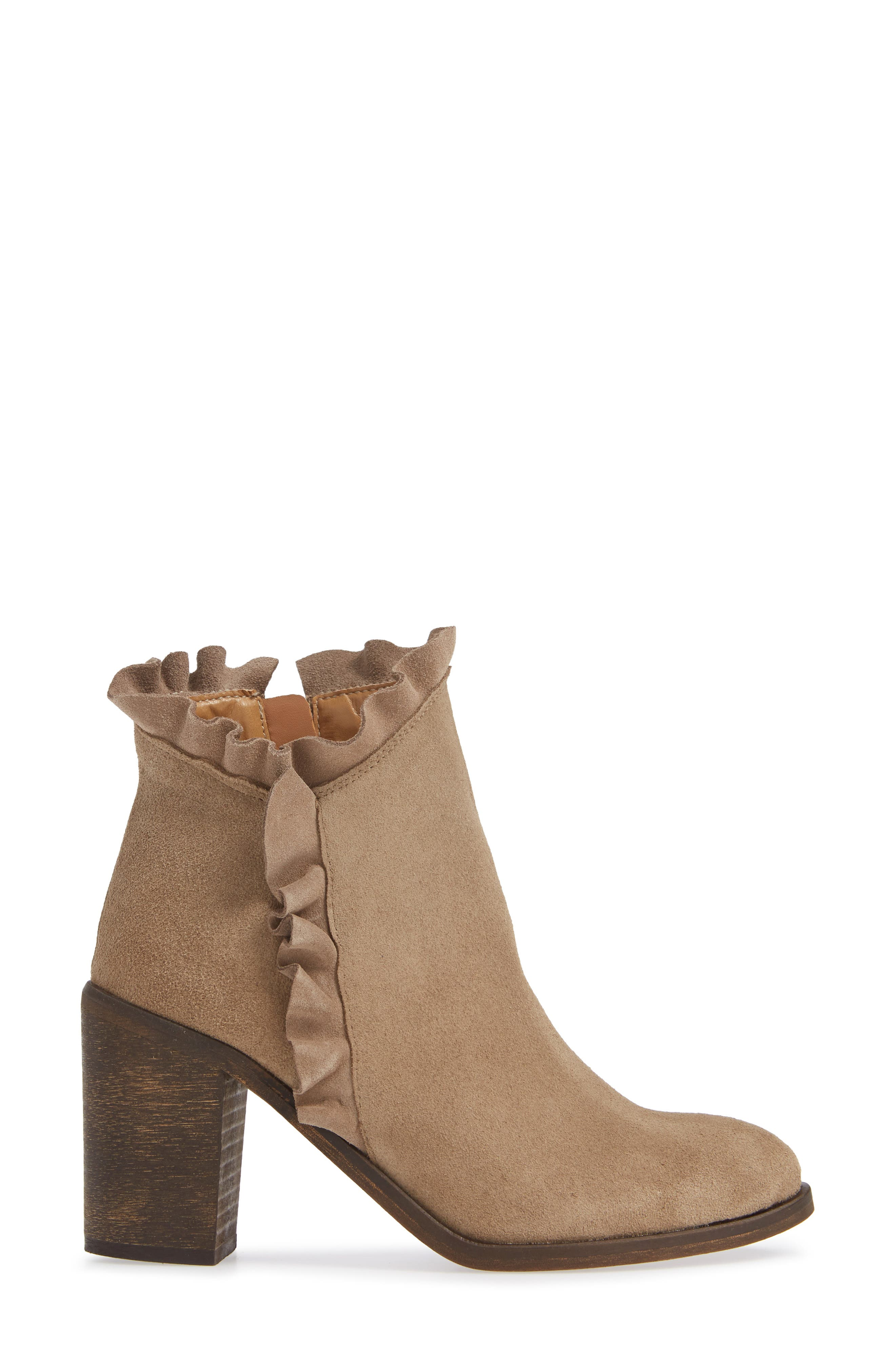 Bellamy Bootie,                             Alternate thumbnail 3, color,                             TAUPE SUEDE