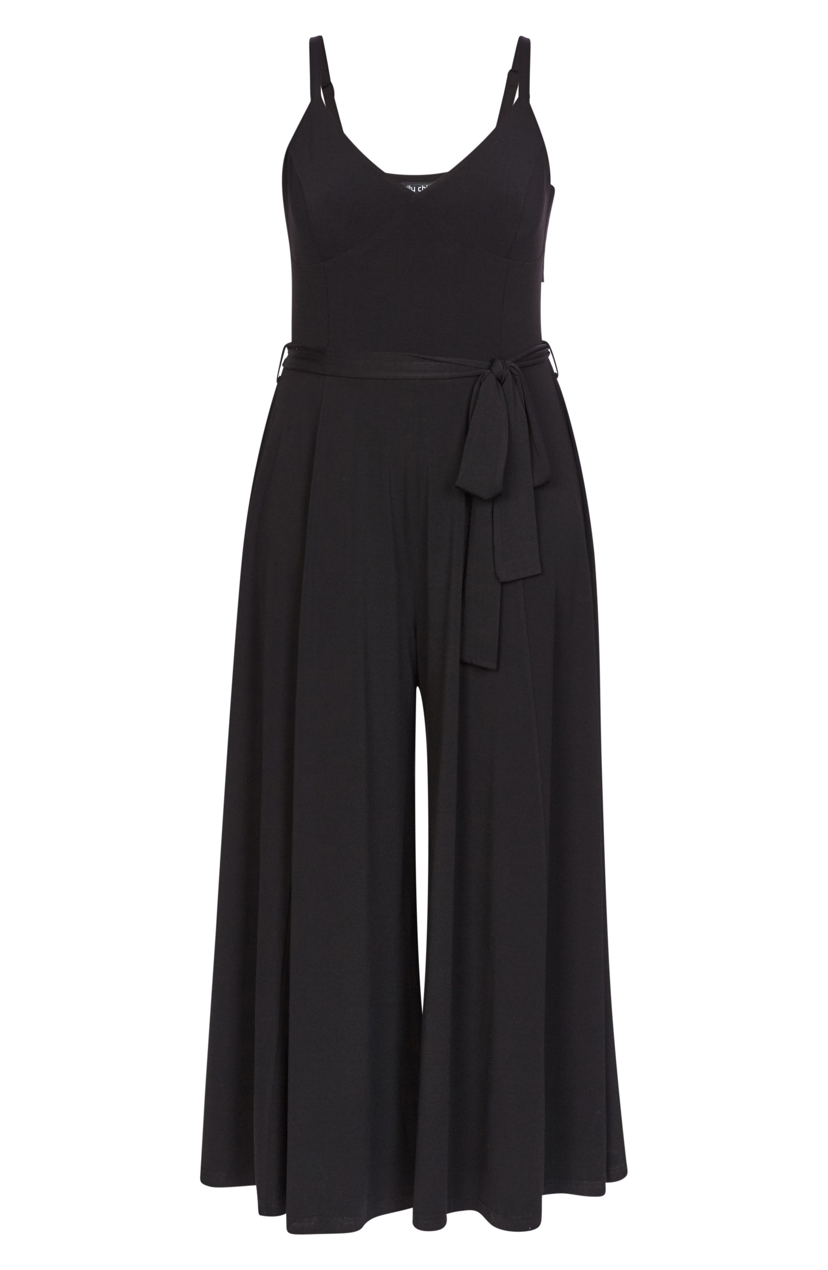 Miss Slinky Jumpsuit,                             Alternate thumbnail 3, color,                             BLACK