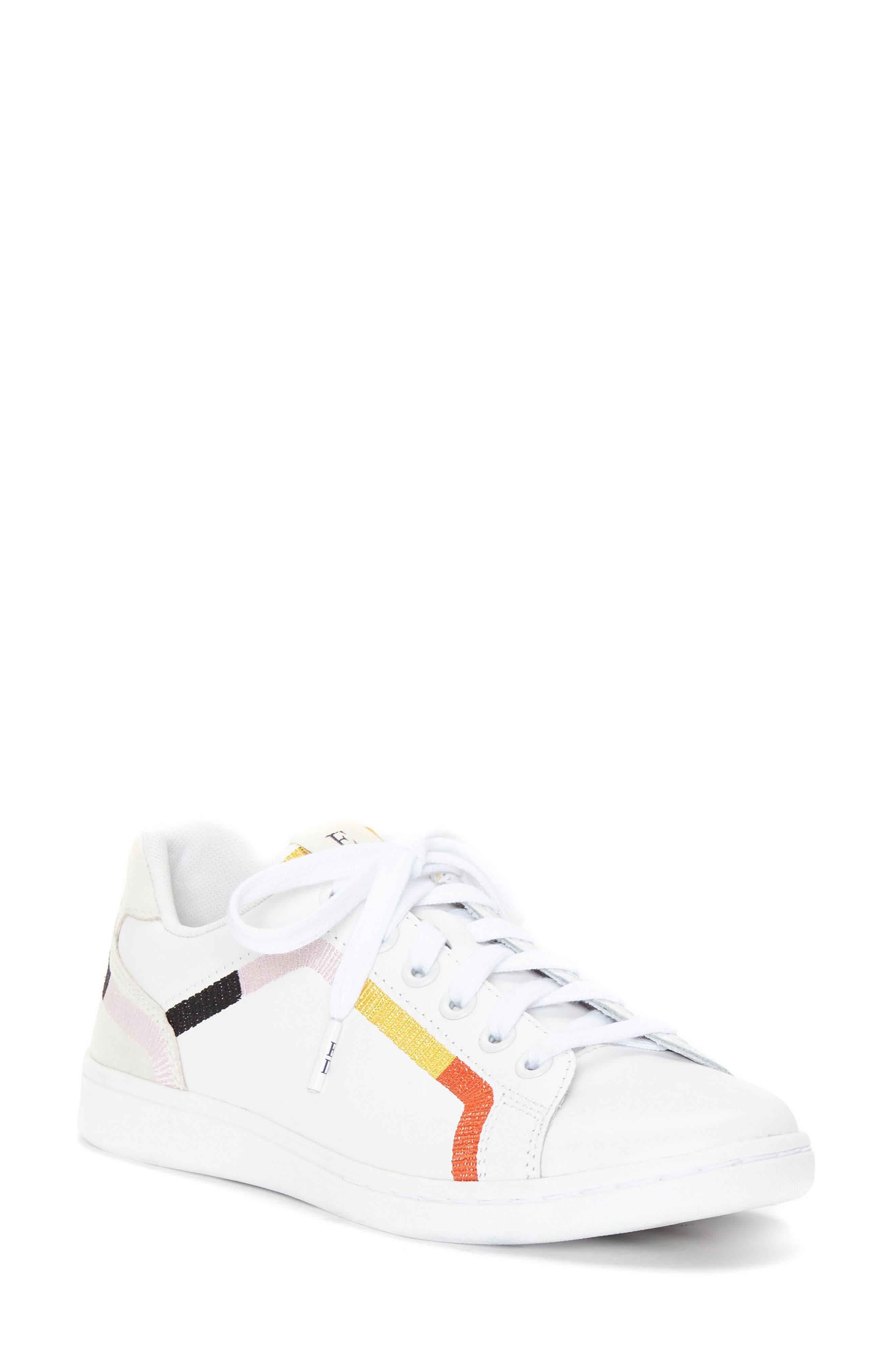 Costella Sneaker,                         Main,                         color, PURE WHITE LEATHER